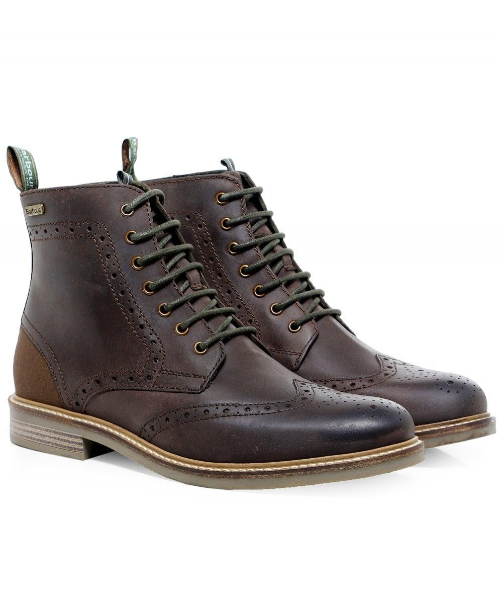 582689f7130 Men's Brown Leather Belsay Brogue Boots