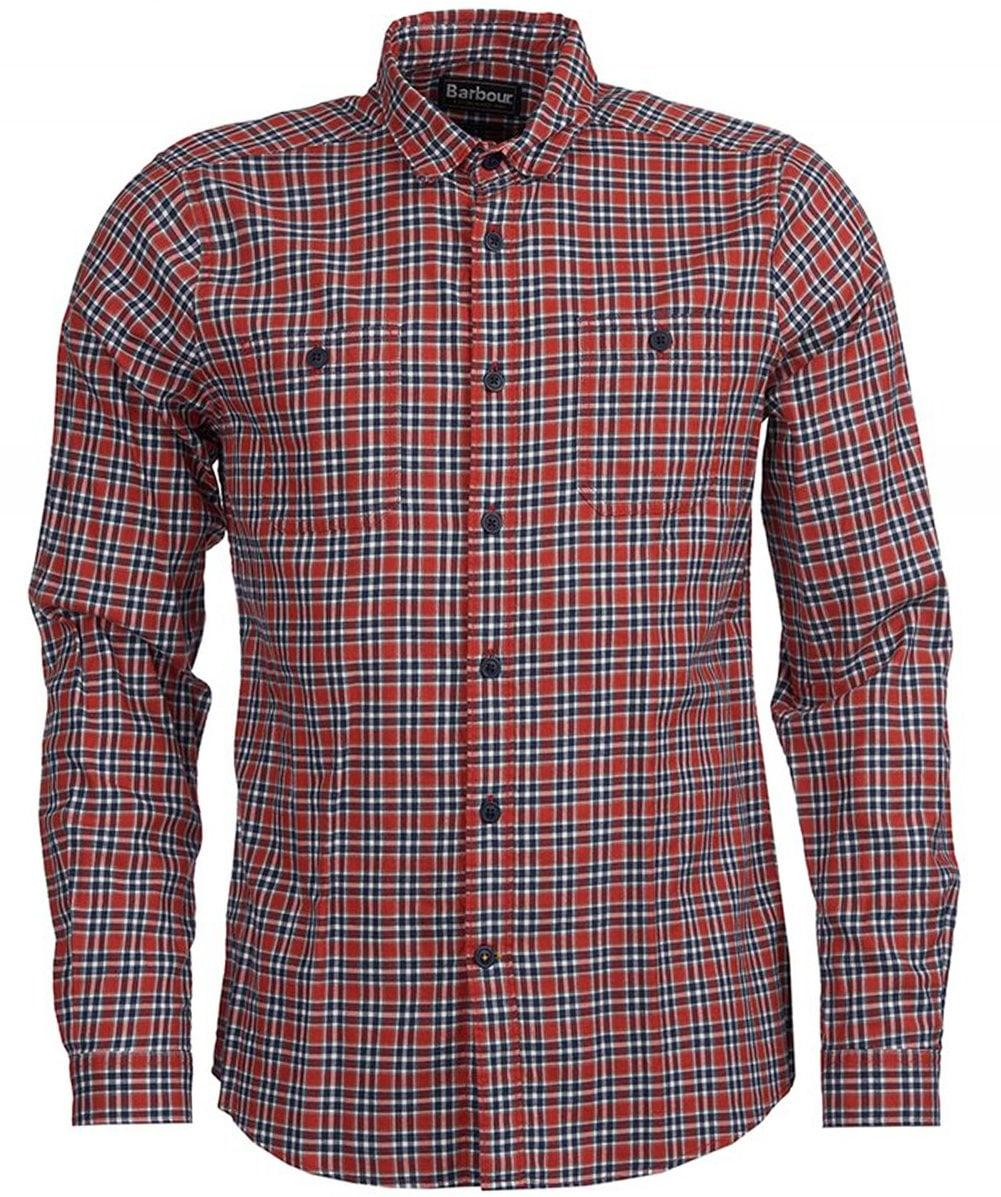 27880789f2 Barbour Tailored Fit Check Bonito Shirt in Red for Men - Lyst