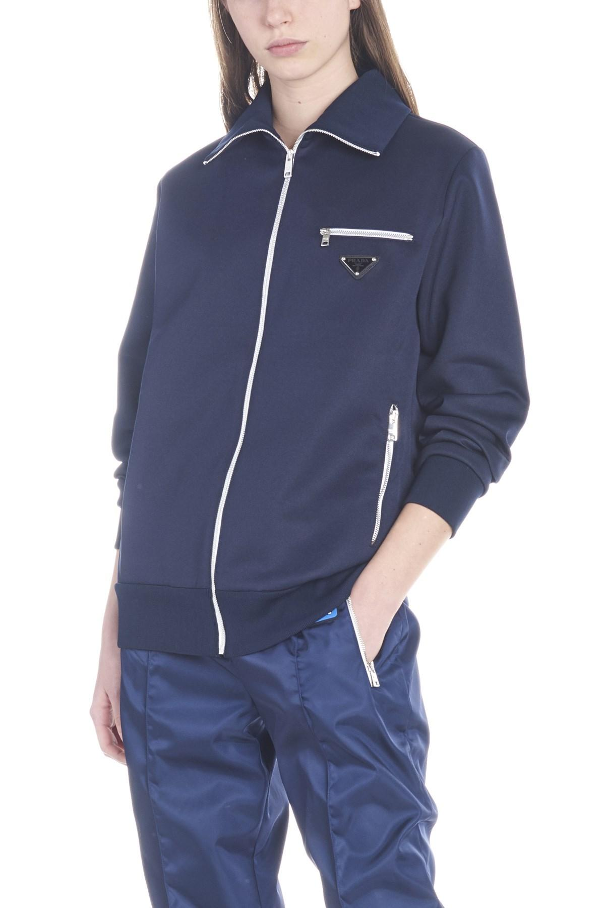 4f6b064bca15 Lyst - Prada Logo Sweatshirt in Blue