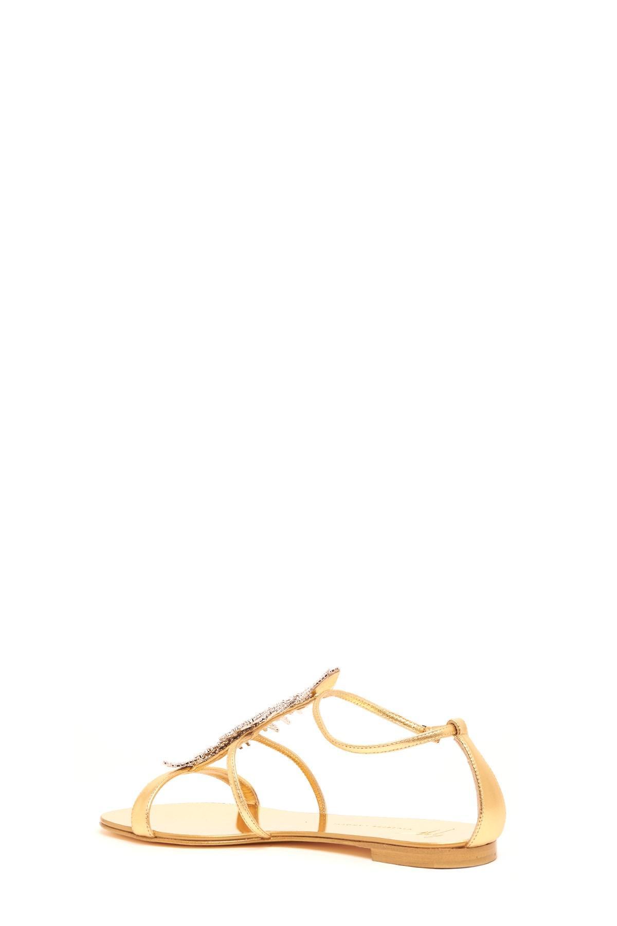 8216079369bc Giuseppe Zanotti - Metallic  roll  Sandals - Lyst. View fullscreen