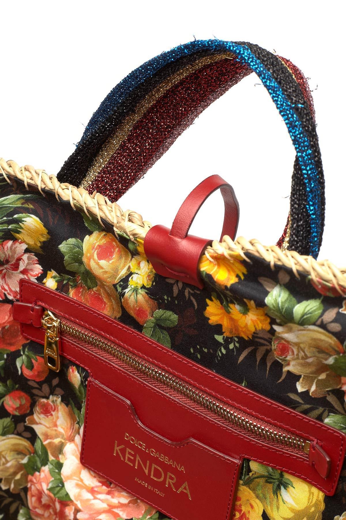 Dolce   Gabbana - Natural Kendra Lurex-trimmed Embellished Straw Tote -  Lyst. View fullscreen b40e80f3f12