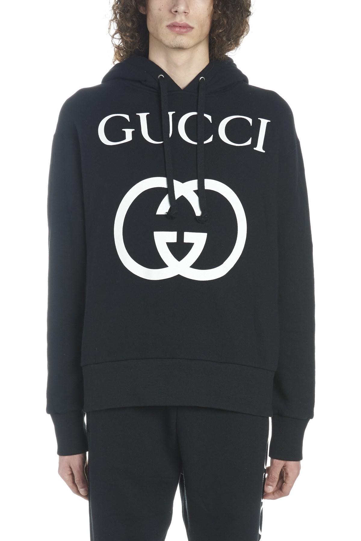 9c3075874c2 Lyst - Gucci  interlocking G  Hoodie in Black for Men