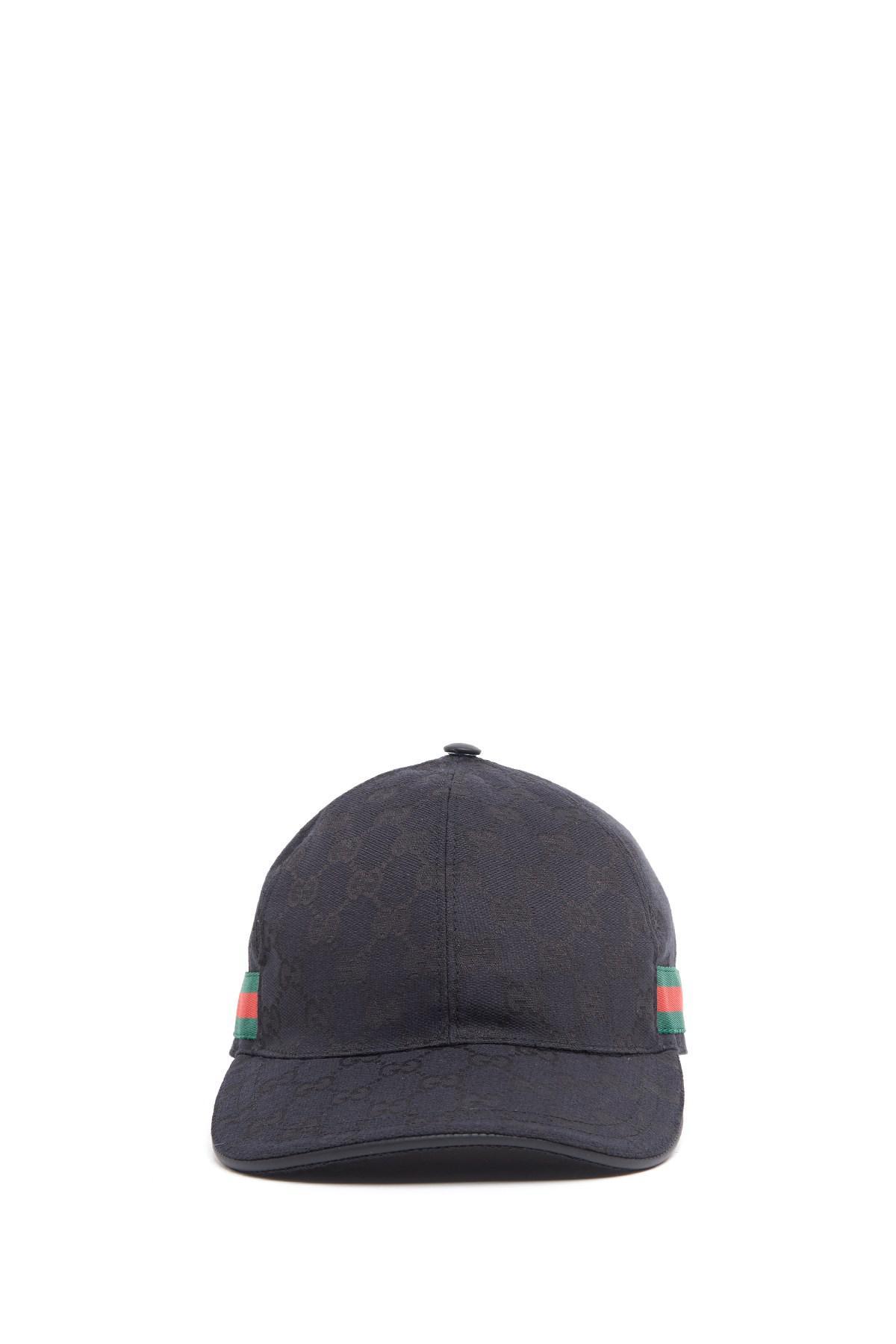 Lyst - Gucci Web Cap in Black for Men ce46e9ab50f