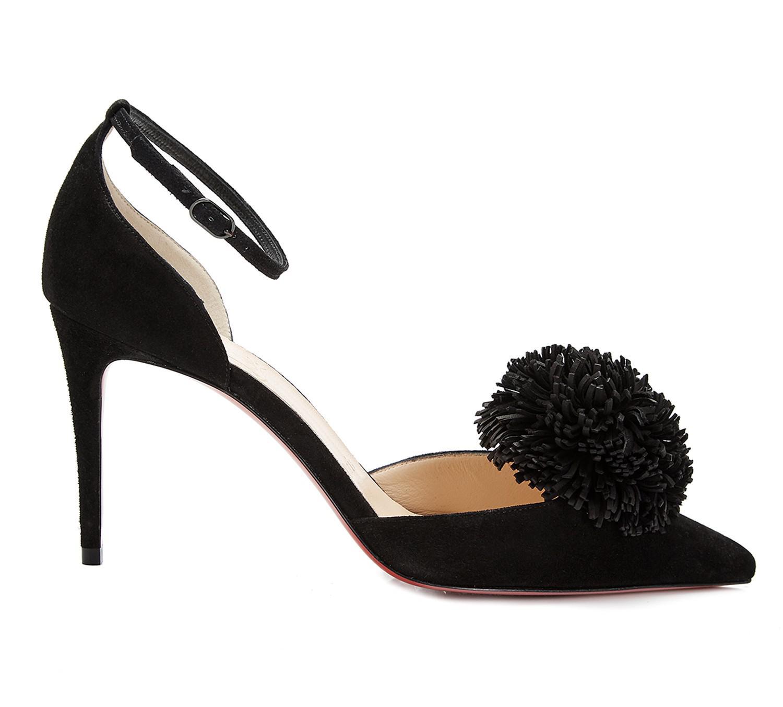 quality design d8c42 6c414 Women's Tsarou Black Pom Pom Heels