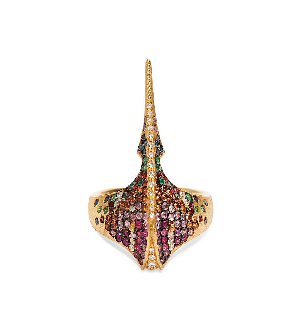 Venyx Kaleidoscopic Tiger Ray ring - Metallic BnRvIHw4