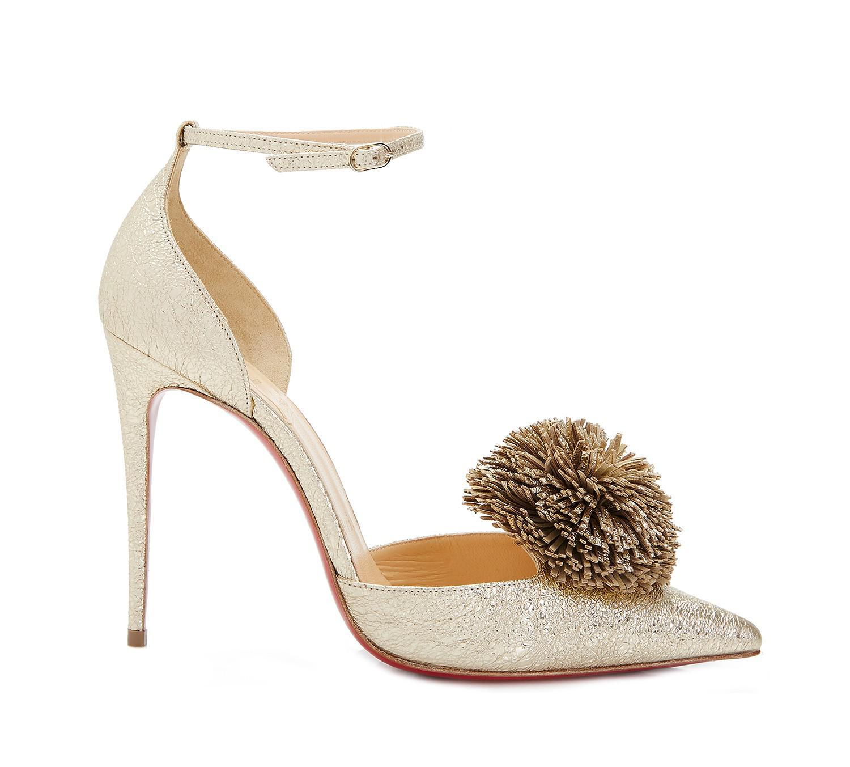 best sneakers db565 f9f67 Women's Metallic Tsarou Vintage Pom Pom Heels