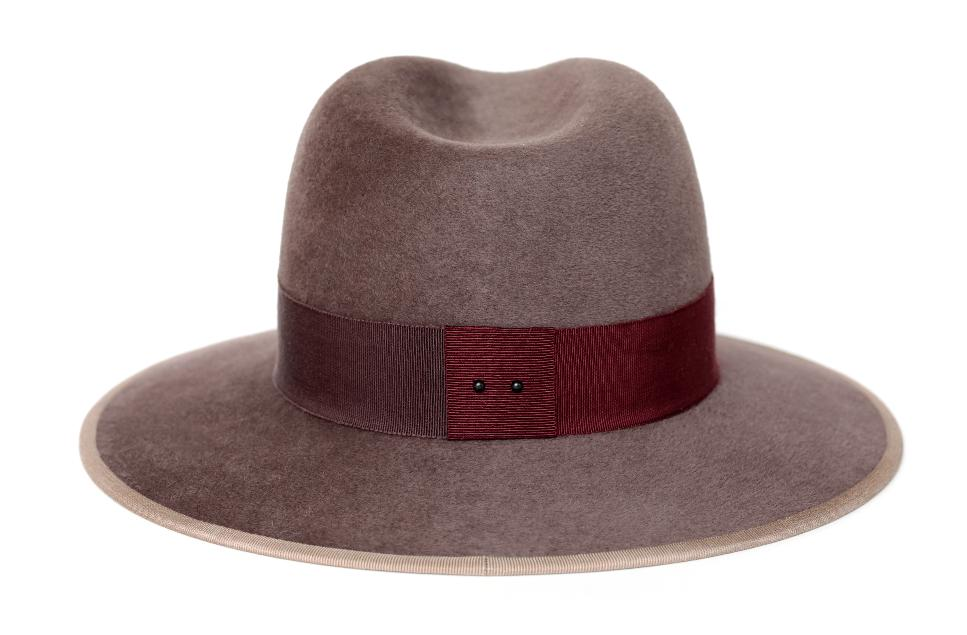 Le Taupe lyst - d'estree le christopher taupe fedora hat in brown