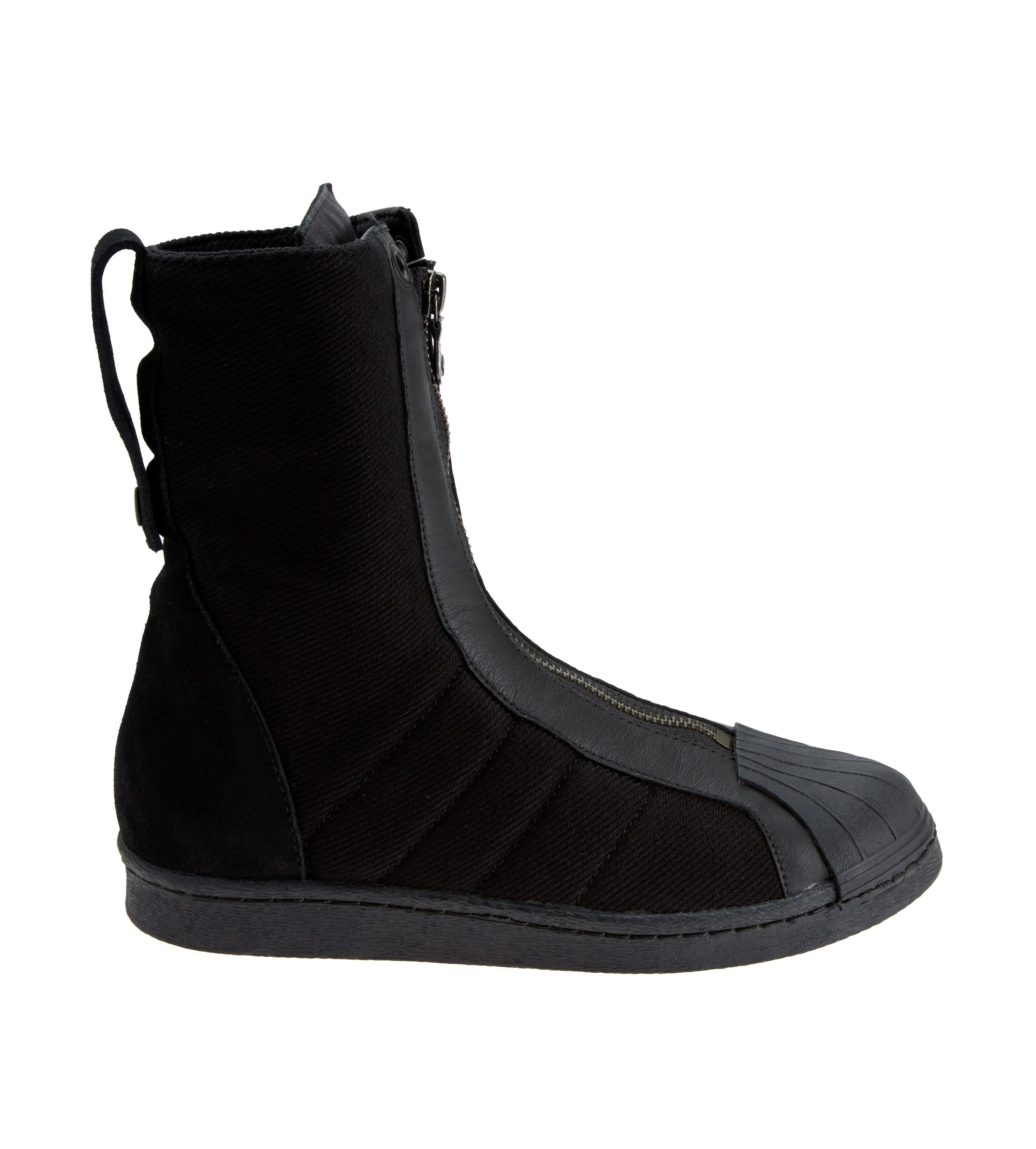Yohji Yamamoto Gaufrée Chaussures De Sport Avec Fermeture À Glissière - Noir wMEstC