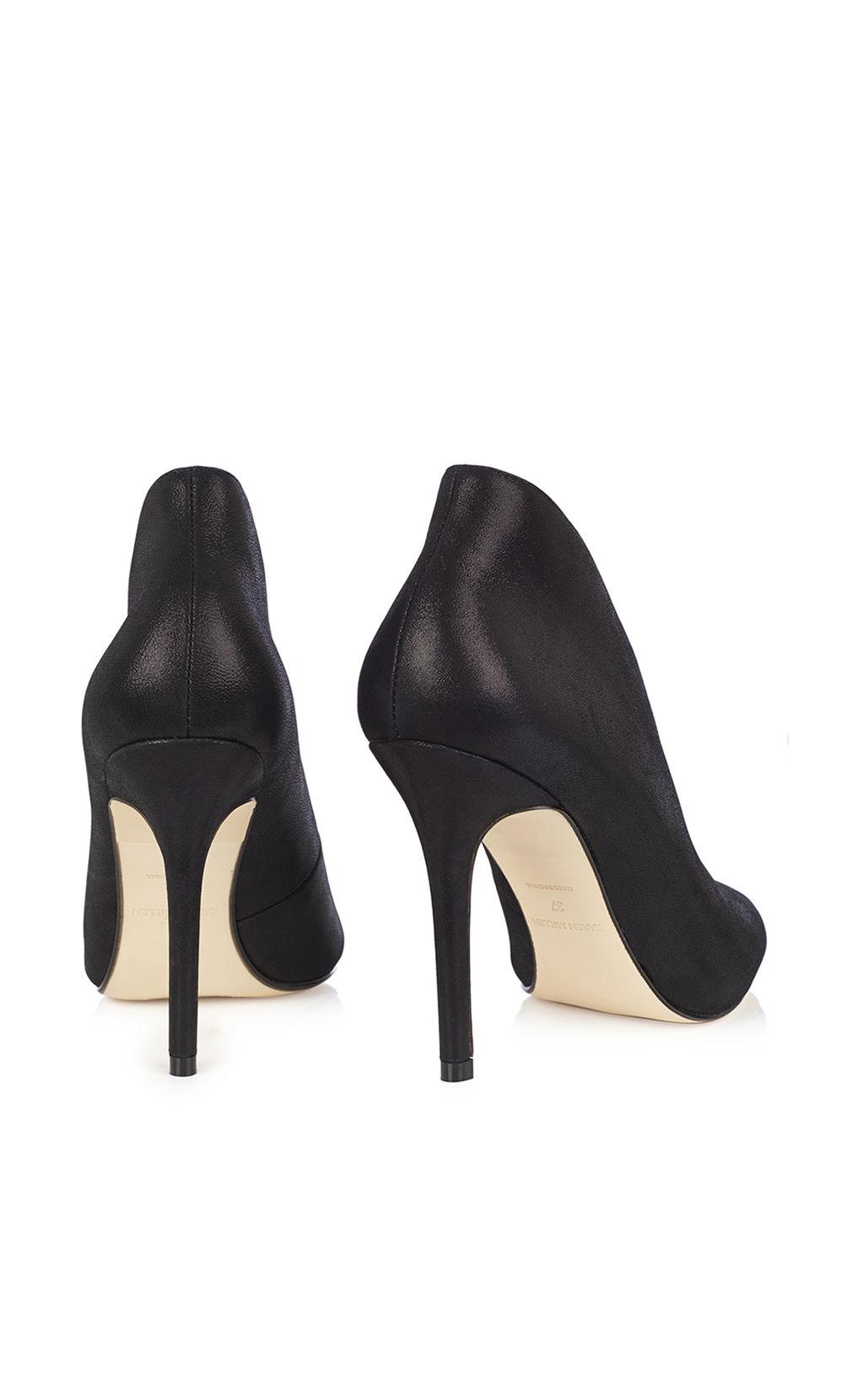 Karen Millen Leather Pearlised Shoe Boot - Black