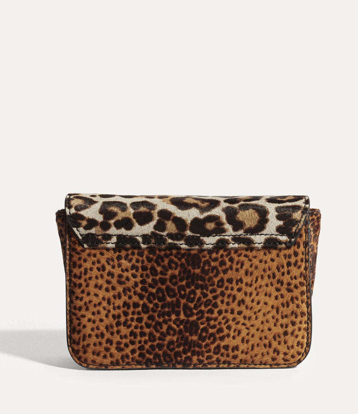 Karen Millen Leather Leopard Cross Body Bag - Leopard Print in Brown