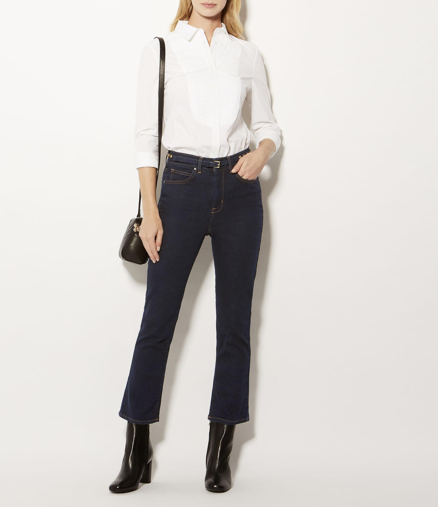 Karen Millen Kick-flare Jeans - Denim in Blue