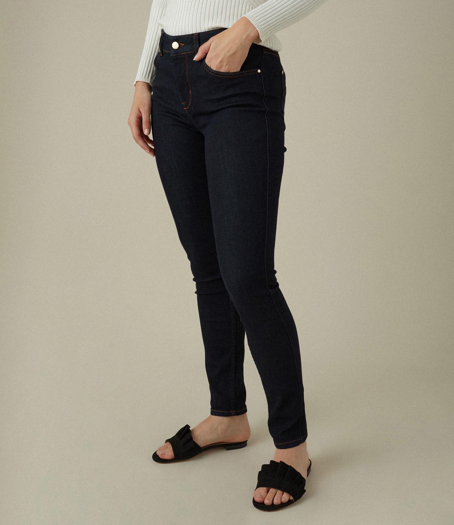 Karen Millen Denim Signature Skinny Jeans in Denim (Blue)
