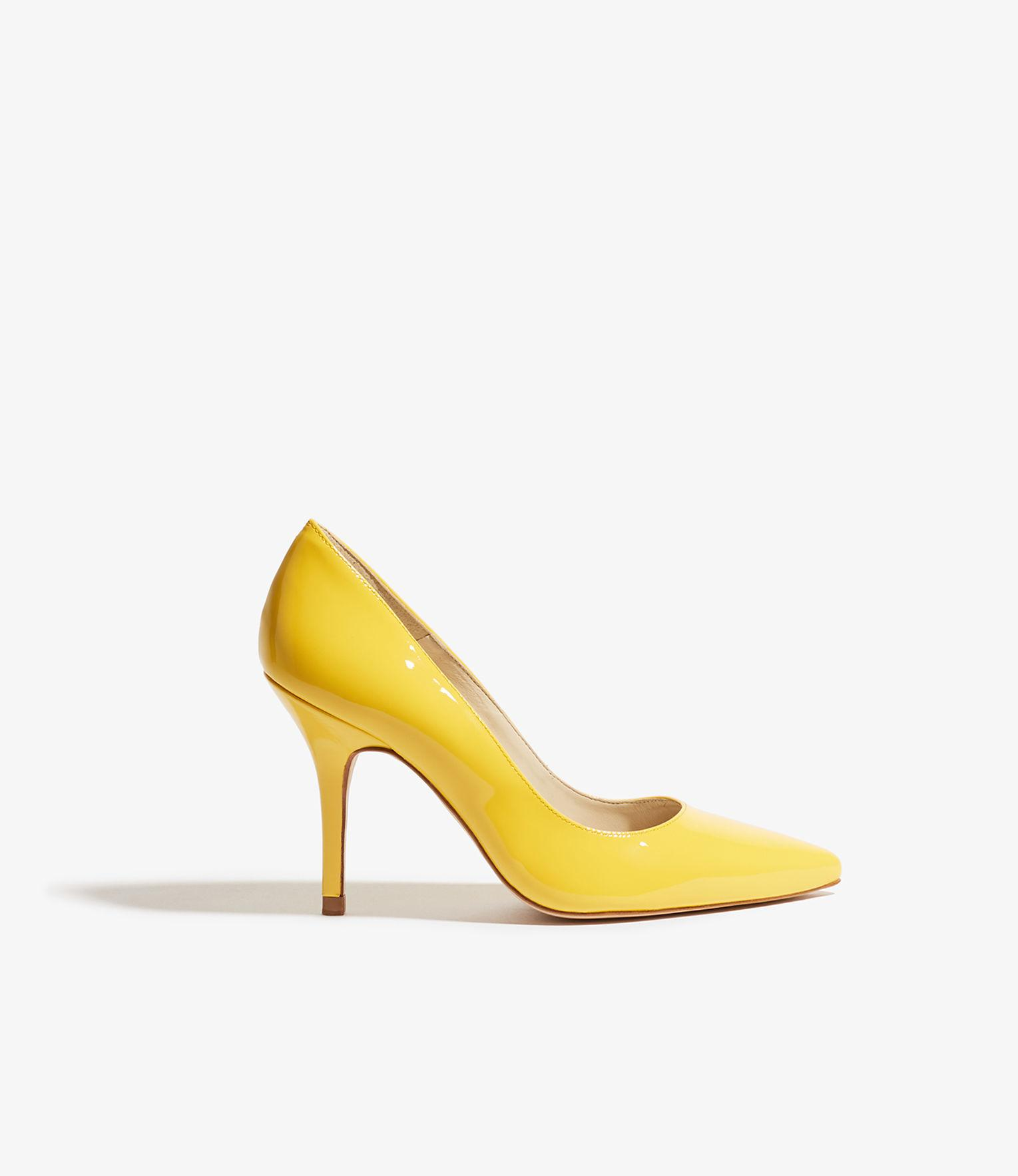 f864639cdb Boldest Trick in the Book Yellow Nubuck Ankle Strap Heels