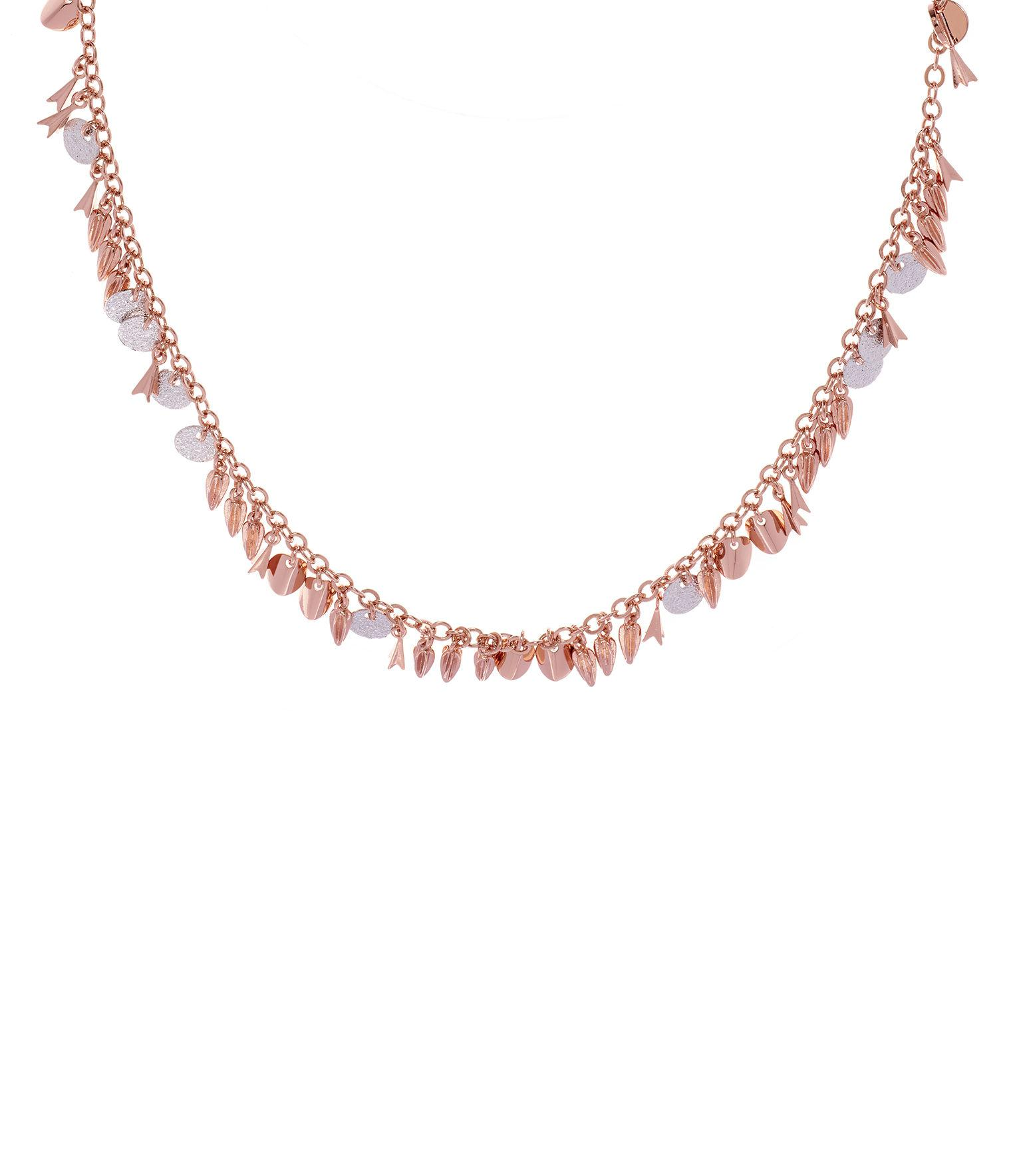 Karen Millen Sunset Drama Charm Necklace in Metallic