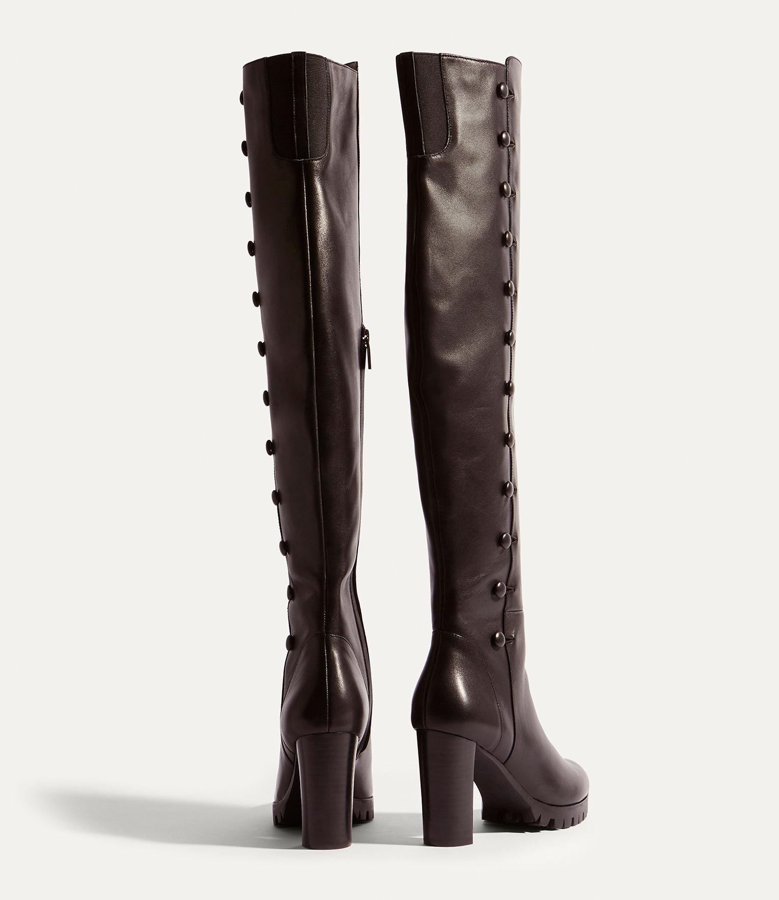 Karen Millen Leather Over-the-knee Boots - Black