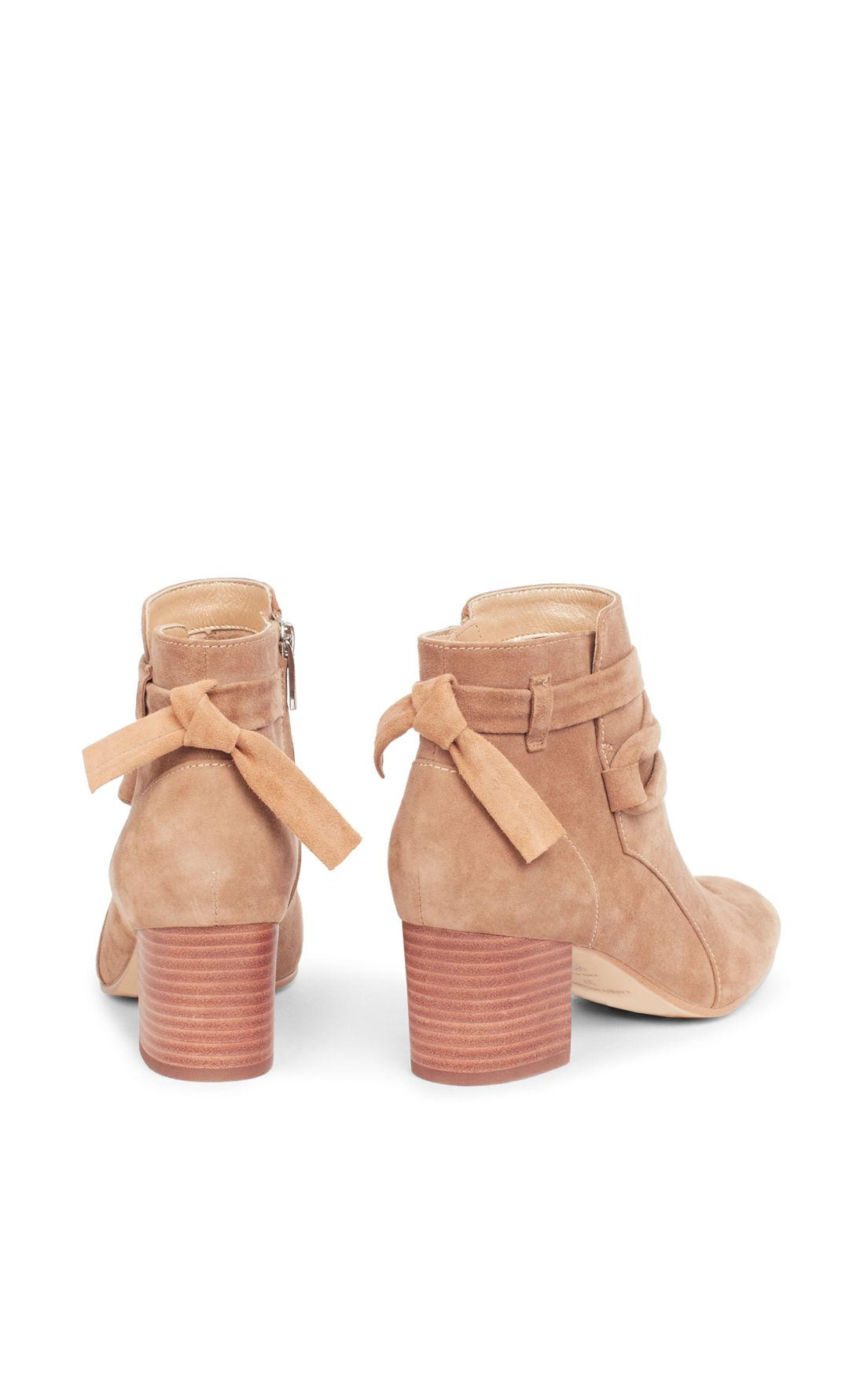 Karen Millen Suede Ankle Boots in Taupe (Natural)