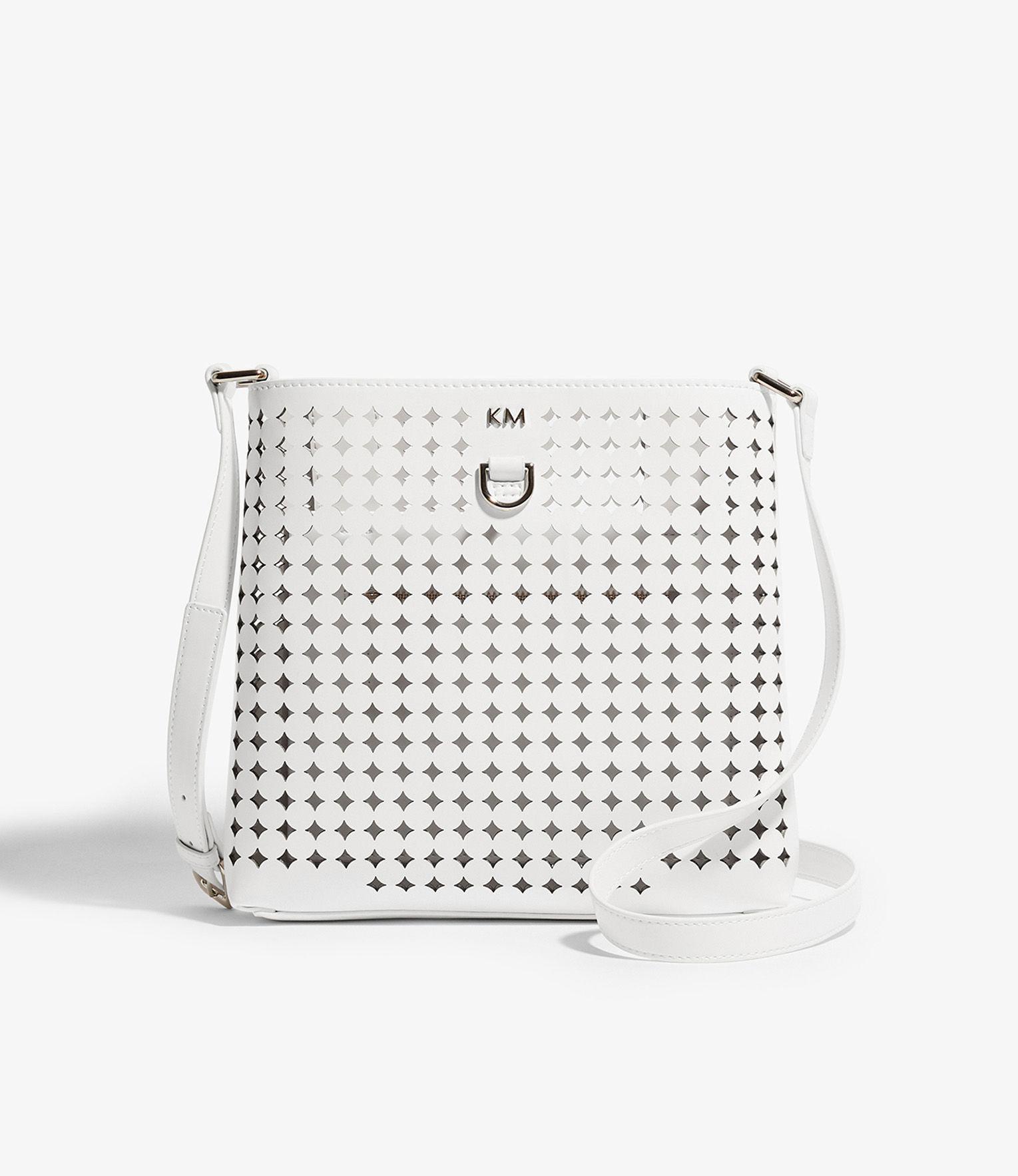 Karen Millen Women S White Perforated Cross Body Bag