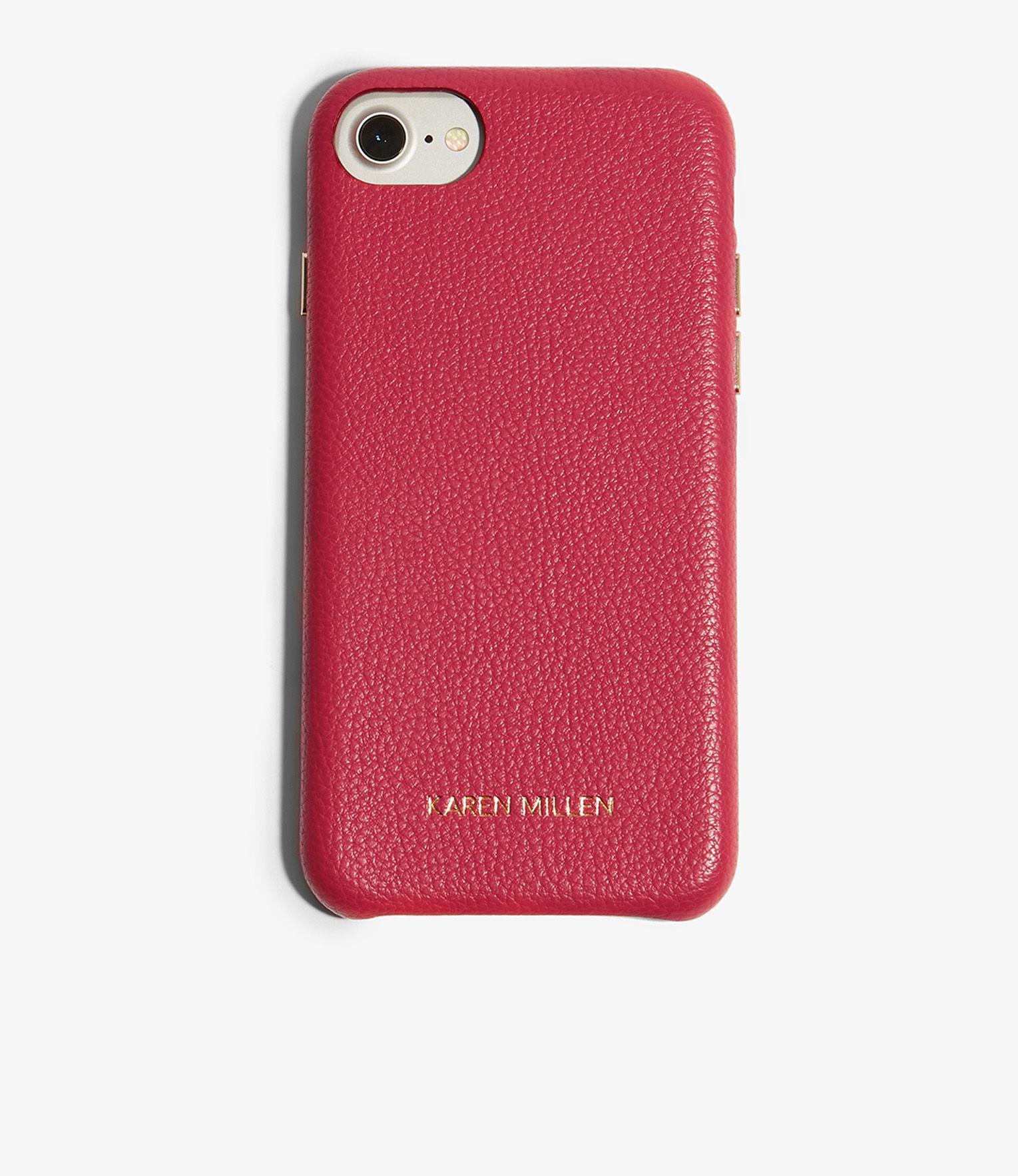 9a54b326c3bd Karen Millen Leather Phone Case in Pink - Lyst