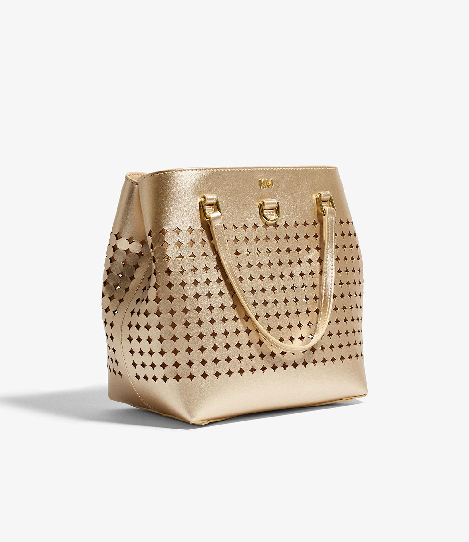 Karen Millen Leather Perforated Mini Tote Bag