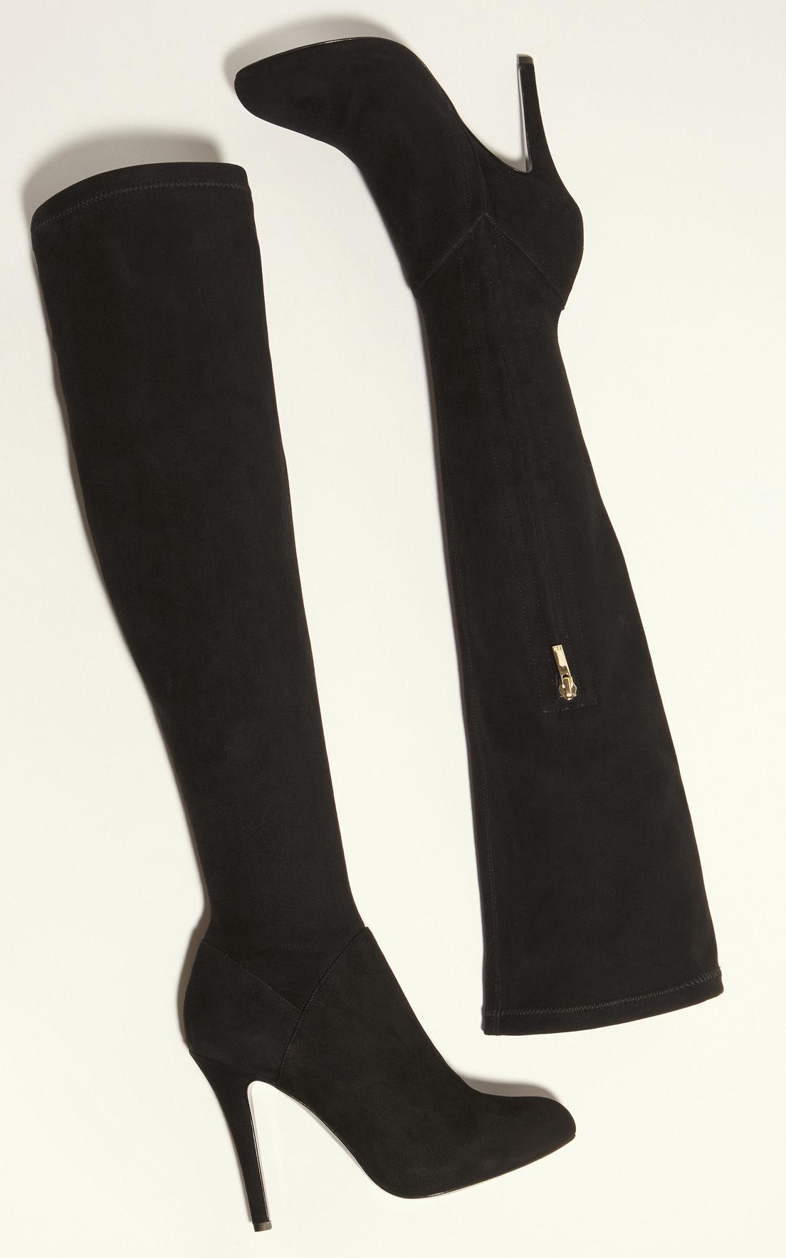 Karen Millen Suede Over-the-knee Boot - Black