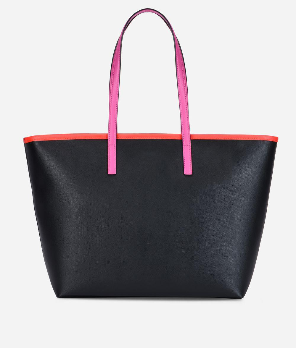 Kstripes Shopper Black Leather Karl Lyst In Lagerfeld E8WqTaUWwz