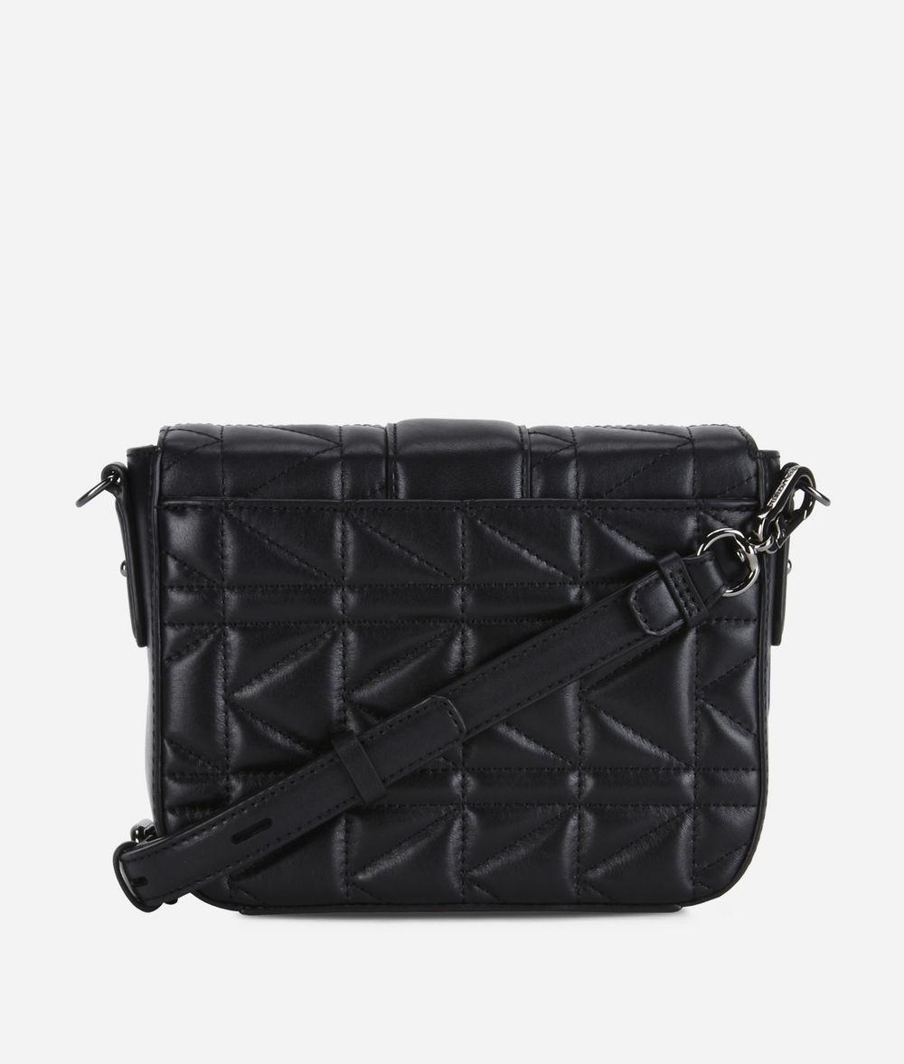 Karl Lagerfeld Leather K/kuilted New Crossbody in Black