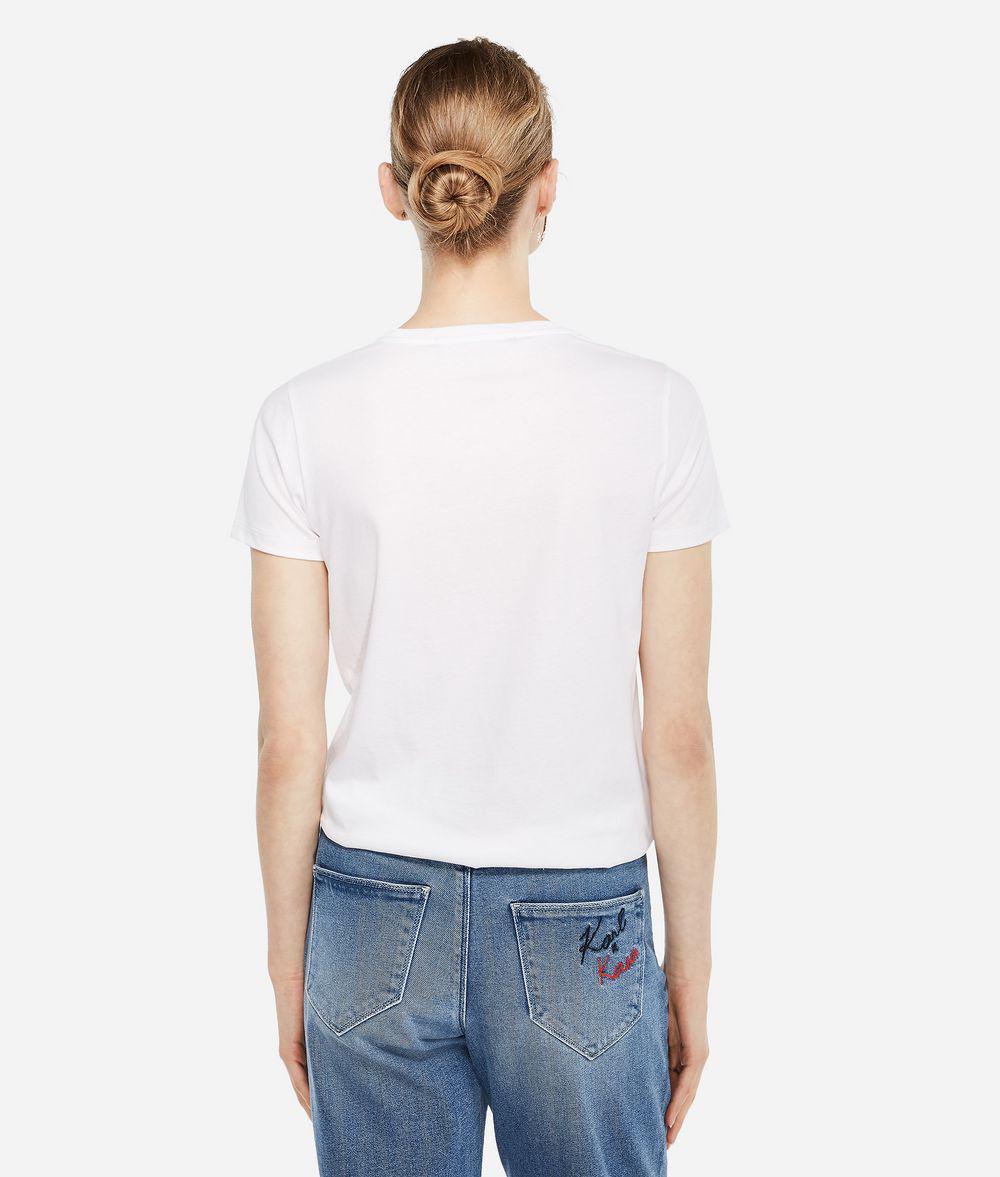 b80c64009e70 Lyst - Karl Lagerfeld Karl X Kaia Ikonik T-shirt in White
