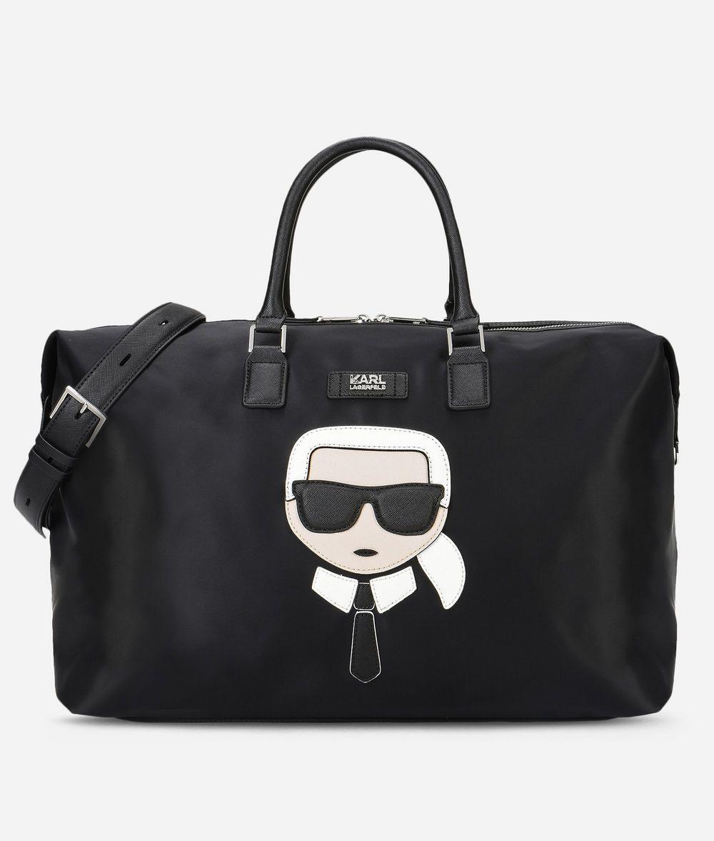 25b18e12a43b Karl Lagerfeld Unisex - K/ikonik Nylon And Leather Weekender in ...