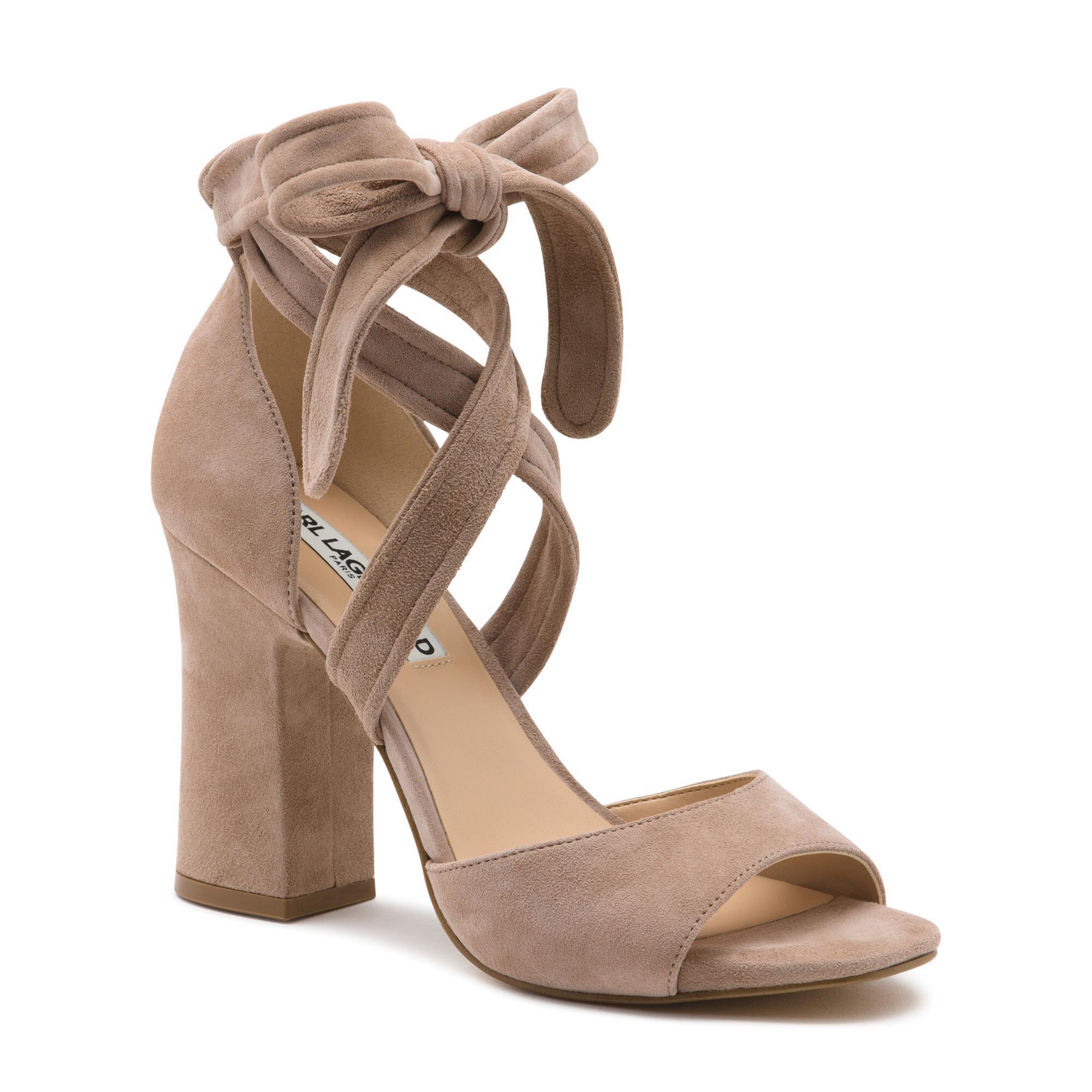 1bbecf486ae3 Lyst - Karl Lagerfeld Racha Wrap Tie Dress Sandal