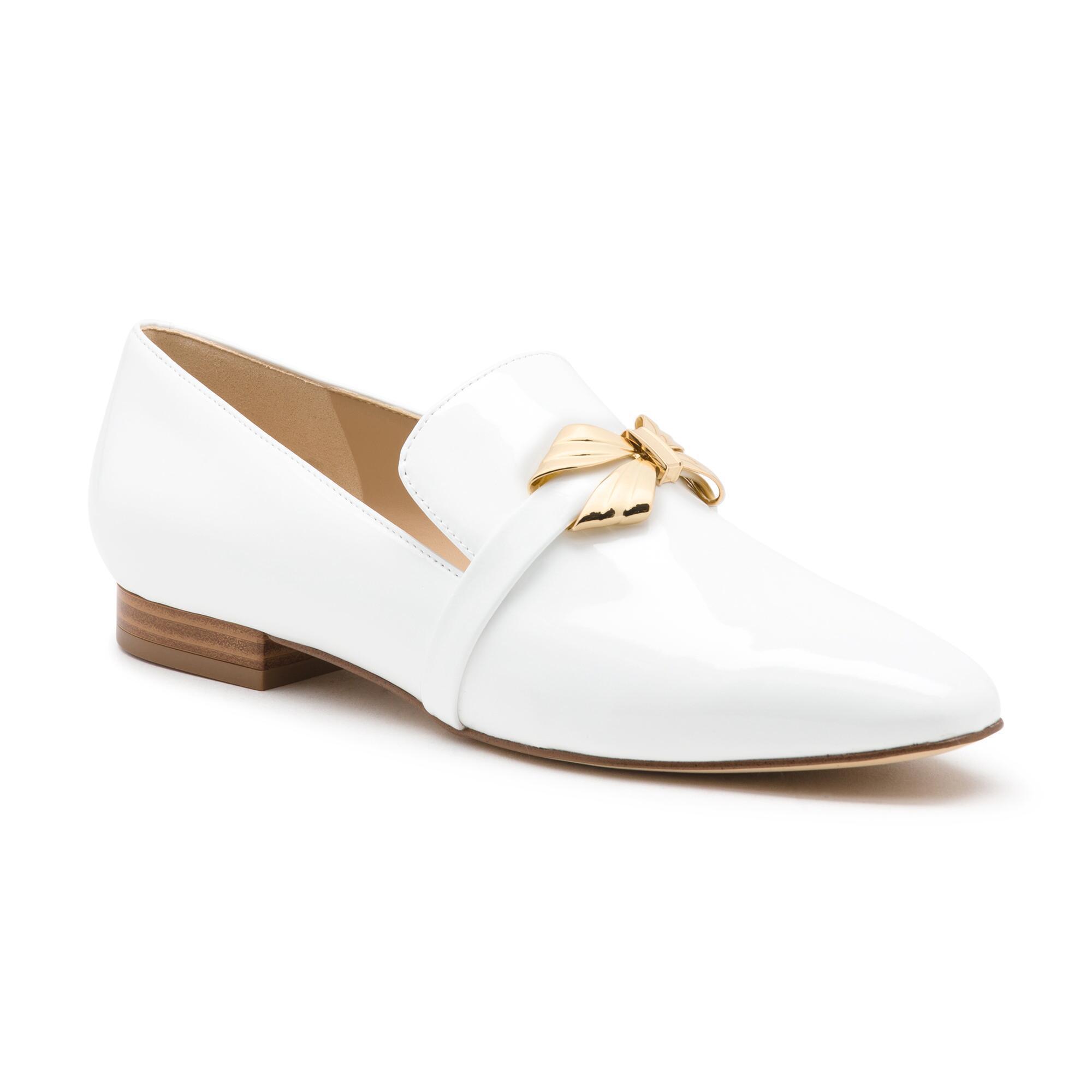 87b8b4155ed Lyst - Karl Lagerfeld Naomi Slip On Loafer in White