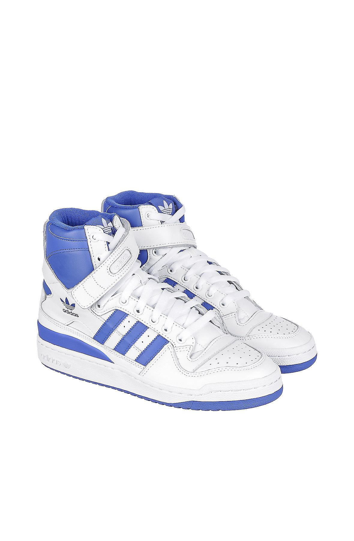 size 40 01613 c620e Lyst - Adidas The Forum Hi Og Sneaker In White in Blue for M
