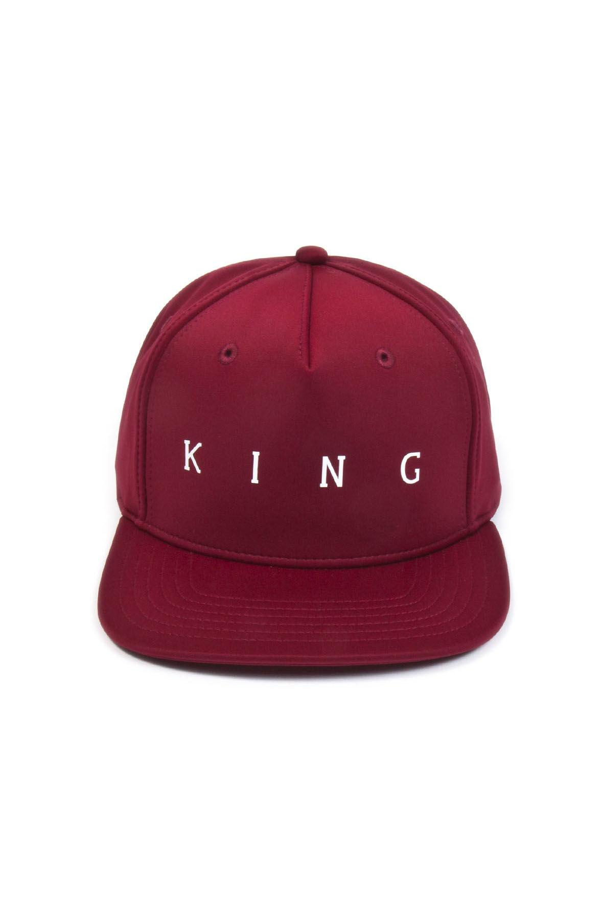 b53f61ee3ac Lyst - KING LONDON Plaistow Pinch Panel Snapback Oxblood in Red for Men