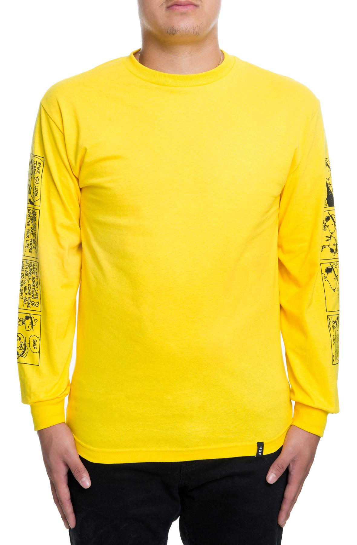 1549c133 Huf - The Peanuts Spike Strips Long Sleeve In Yellow for Men - Lyst. View  fullscreen
