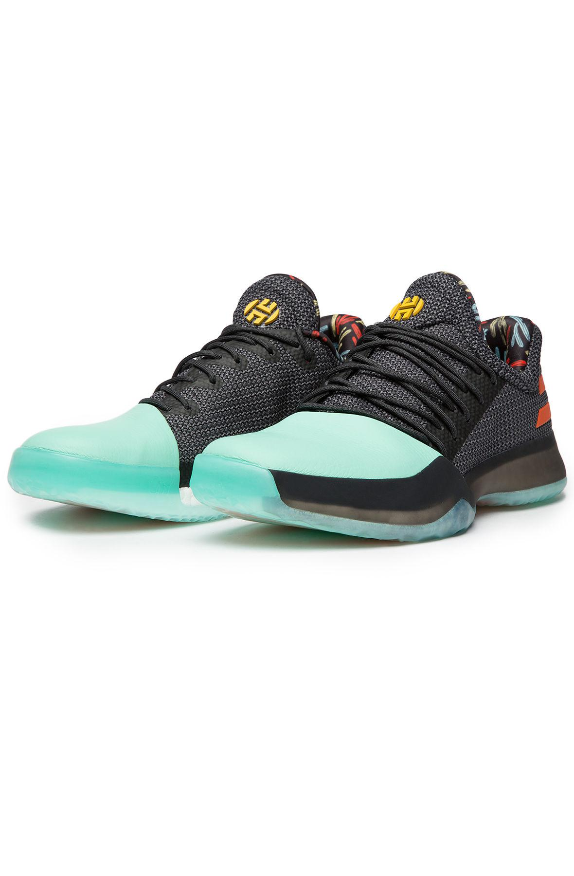Lyst - adidas The Harden Vol. 1 In Coral Black And Green in Black ... 7515e5252