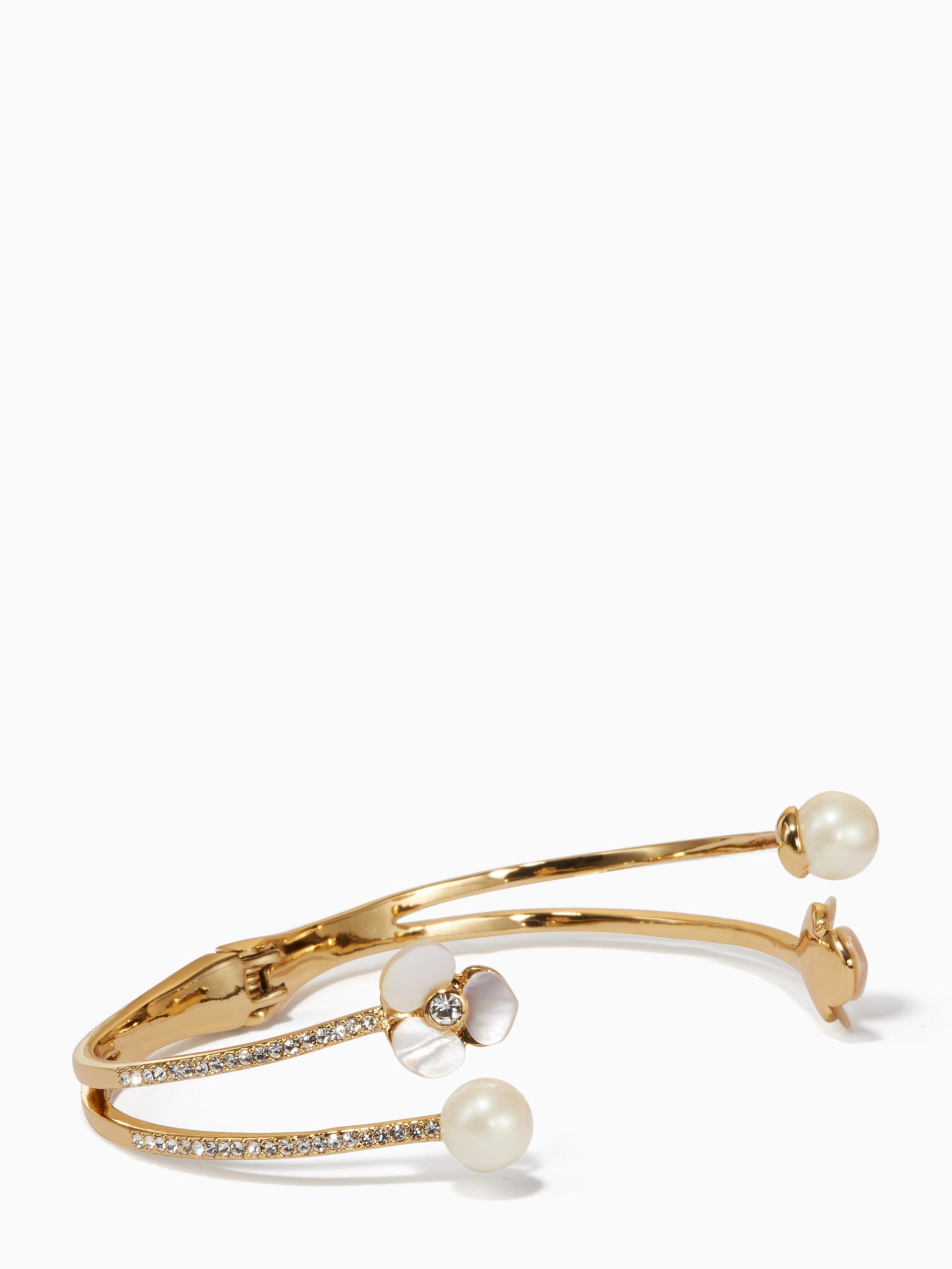 Kate Spade Disco Pansy Double Cuff in Natural