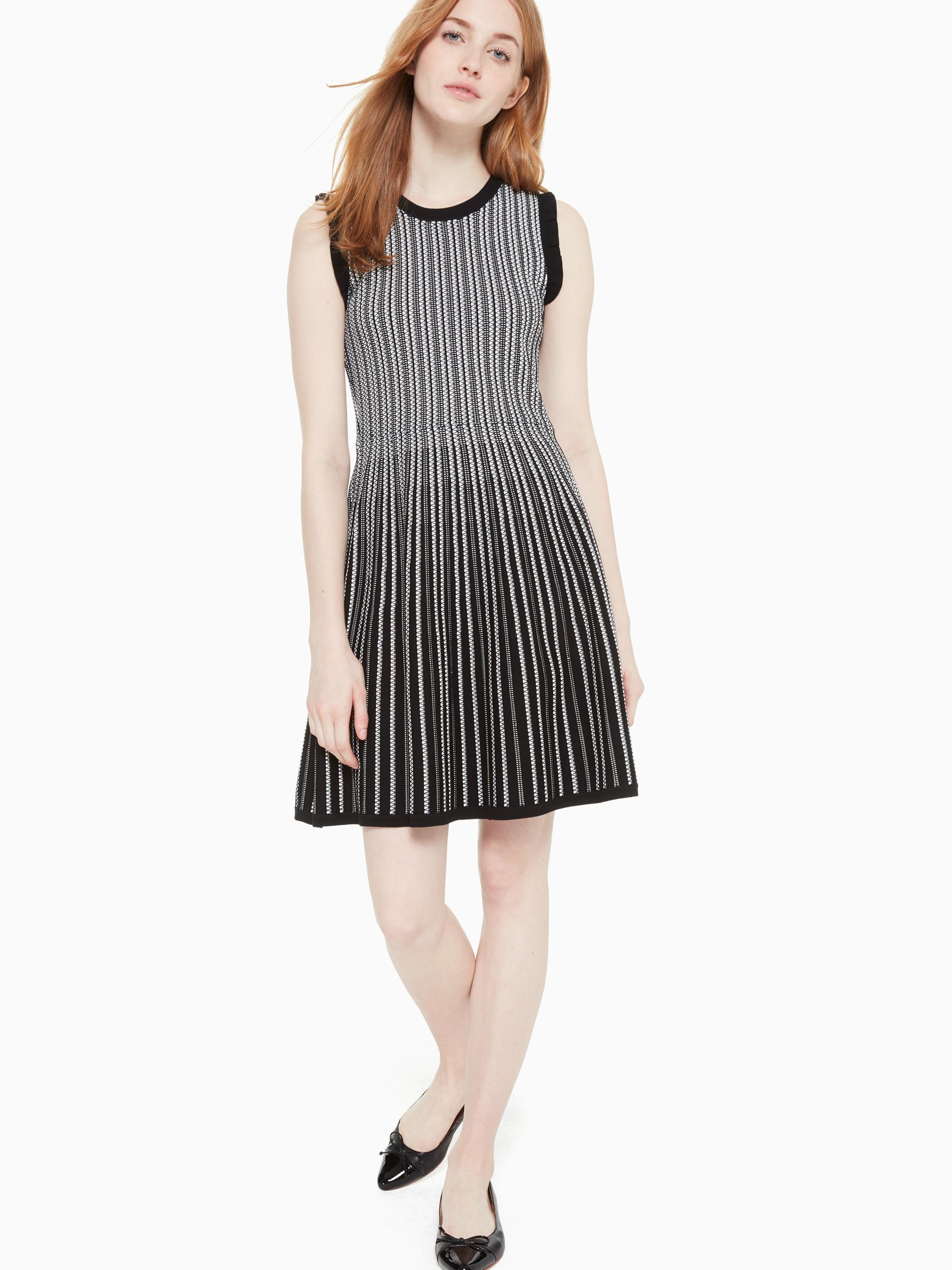 60238256408 Kate Spade - Black Textured Sweater Dress - Lyst. View fullscreen
