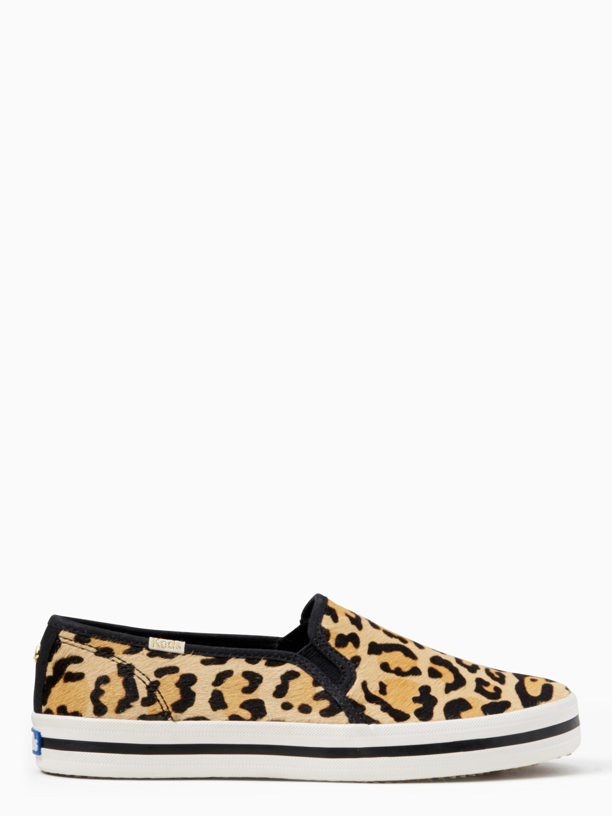 Kate Spade Keds For Double Decker Ks Leopard Pony Hair Sneakers