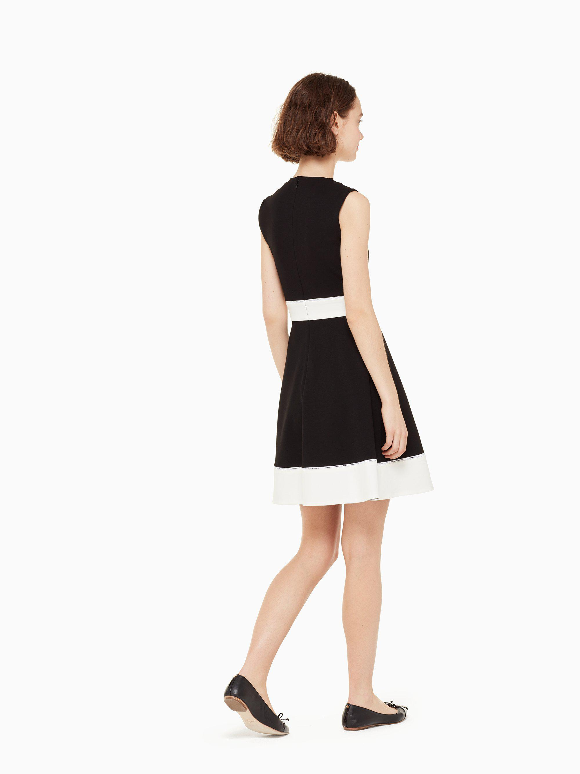 5cdbe1efa7 Kate Spade - Black Color Block Ponte Dress - Lyst. View fullscreen