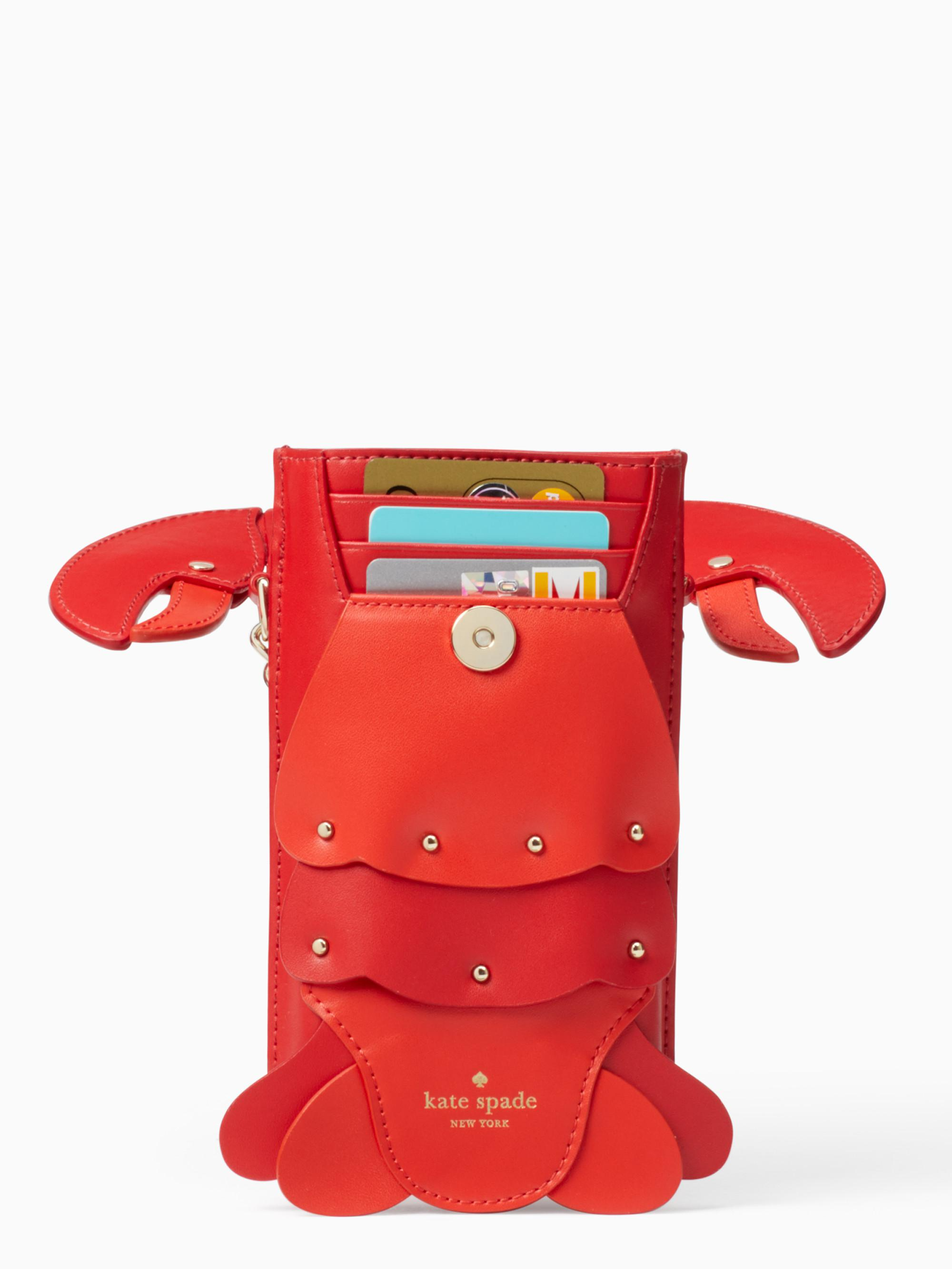 super popular b204c 5a76c Kate Spade Lobster North South Crossbody Iphone Cases Case in Red - Lyst