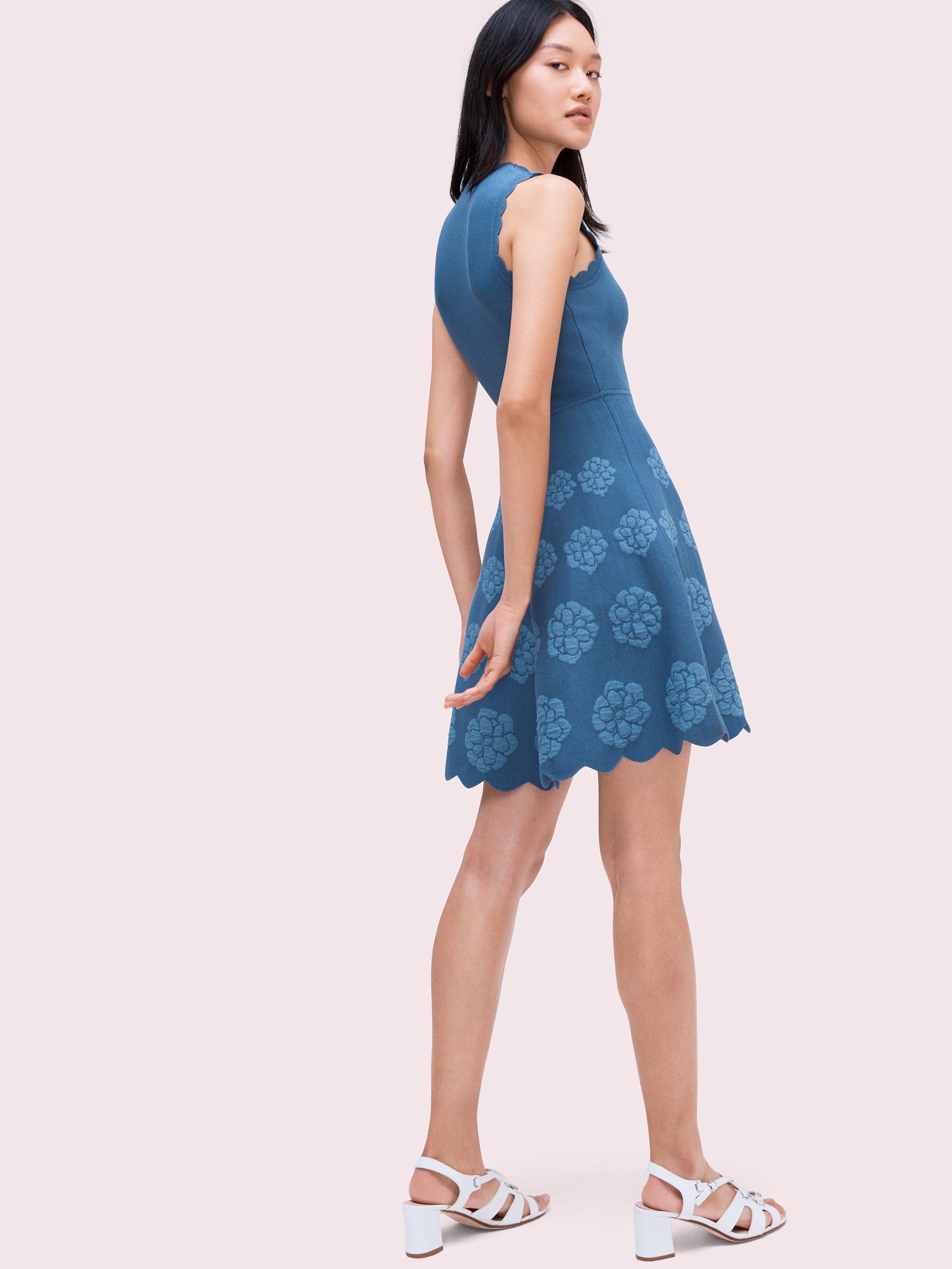 ad3aaee2388 Kate Spade - Blue Flora Hem Sweater Dress - Lyst. View fullscreen