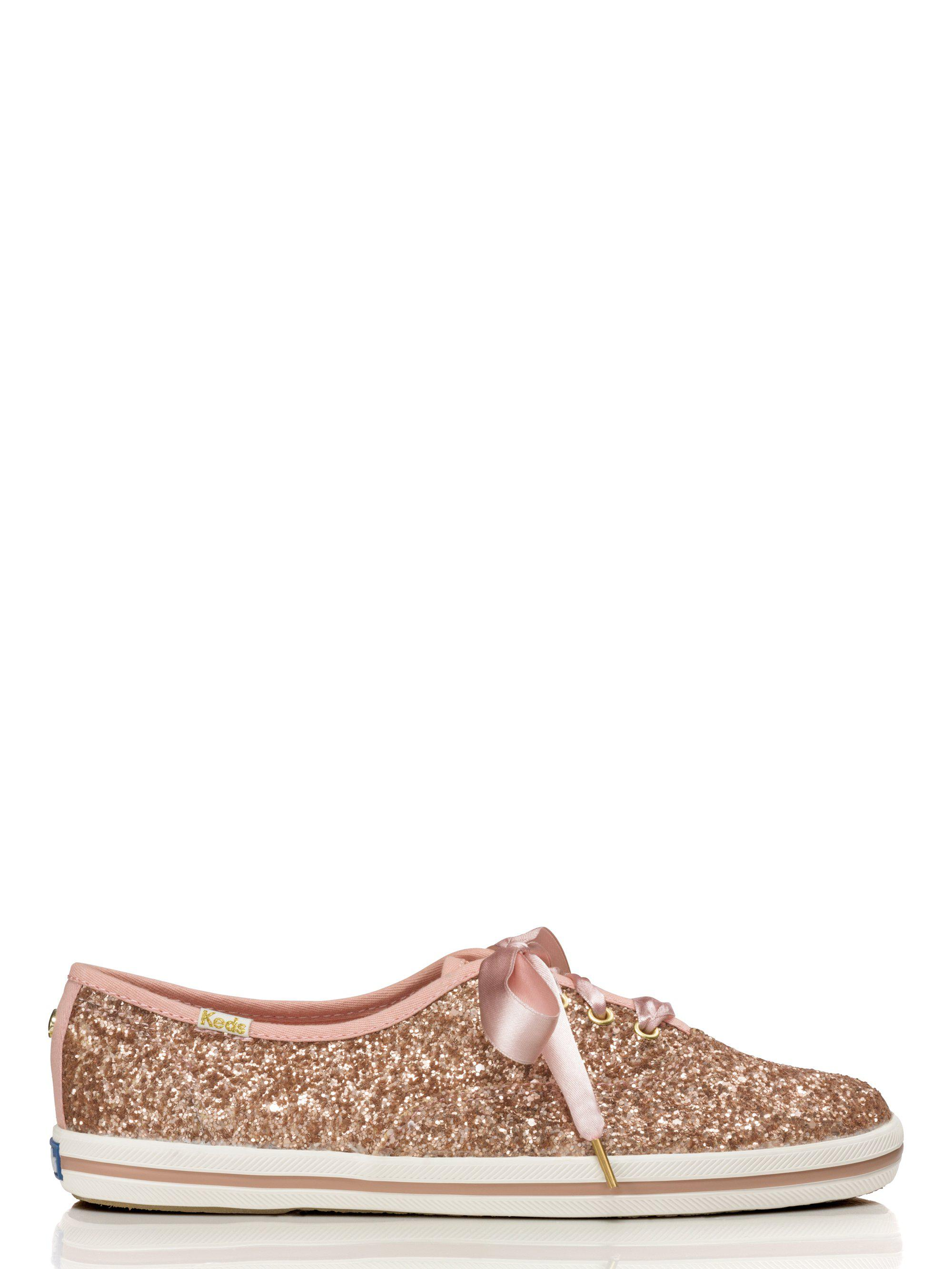 974d2e99d582 Lyst - Kate Spade Keds X New York Glitter Sneakers in Pink - Save 31%