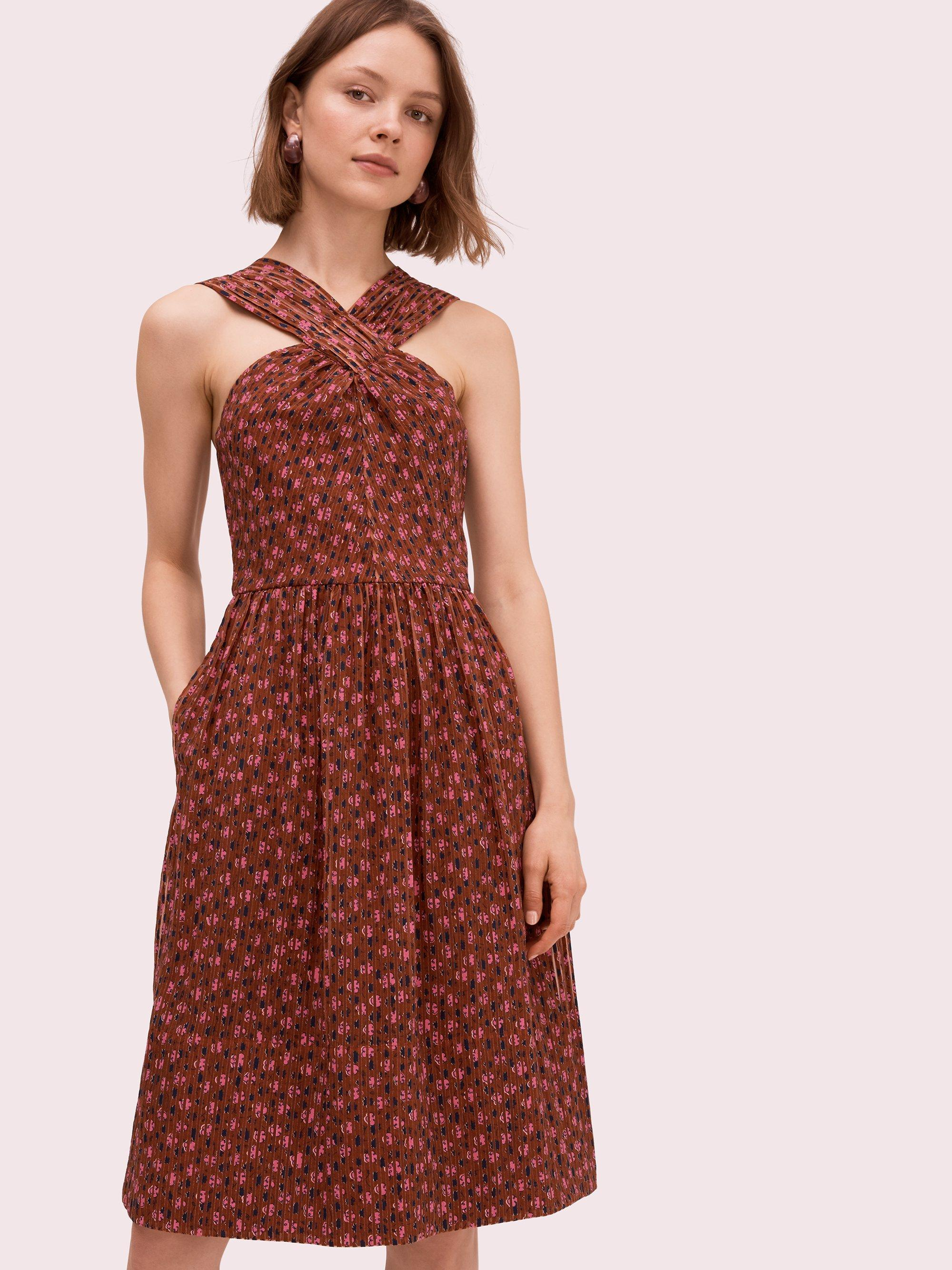366ab341351c Kate Spade Floradoodle Halter Dress in Red - Lyst