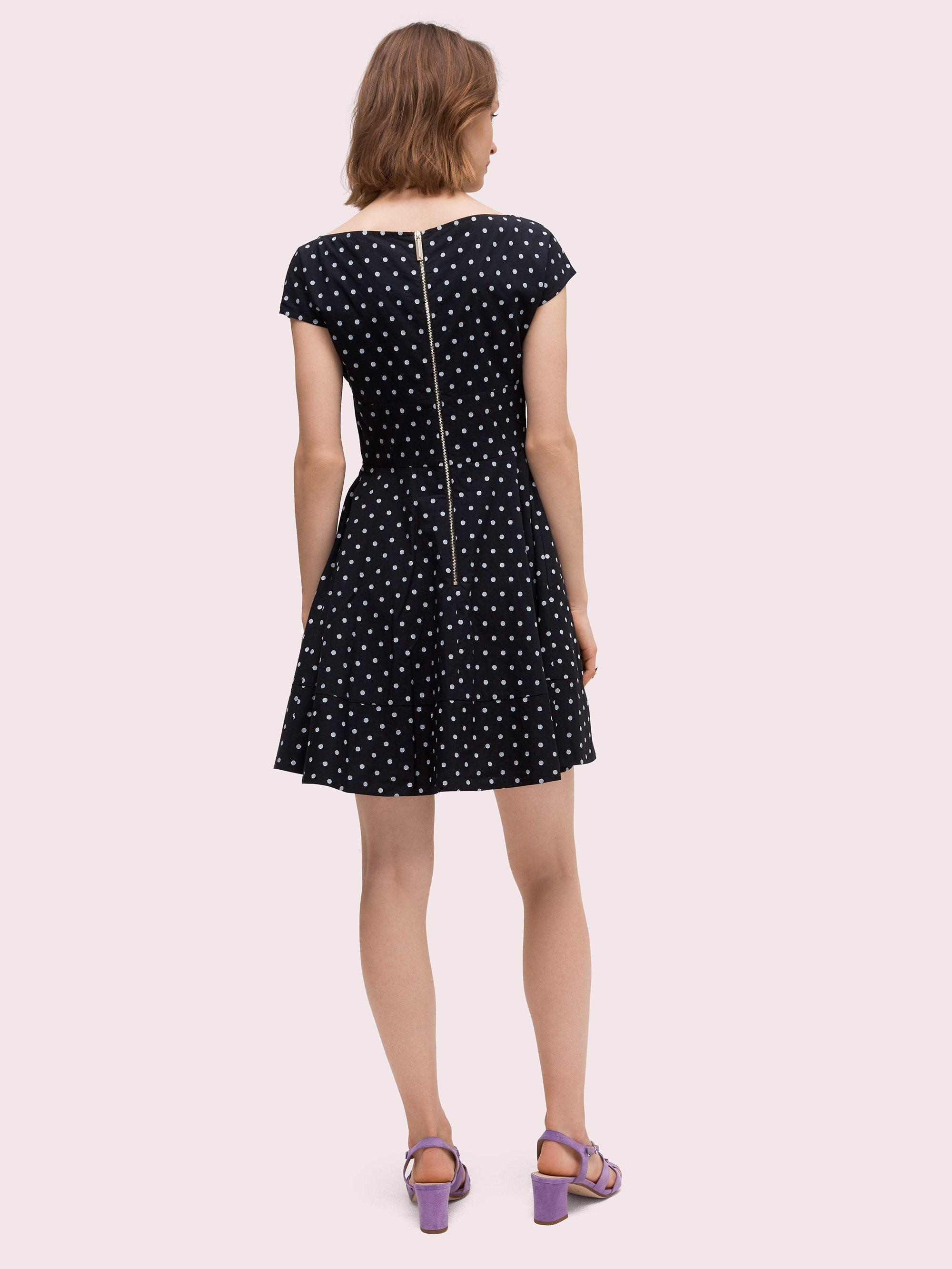 d200166fad6a Kate Spade - Black Dot Cotton Fiorella Dress - Lyst. View fullscreen