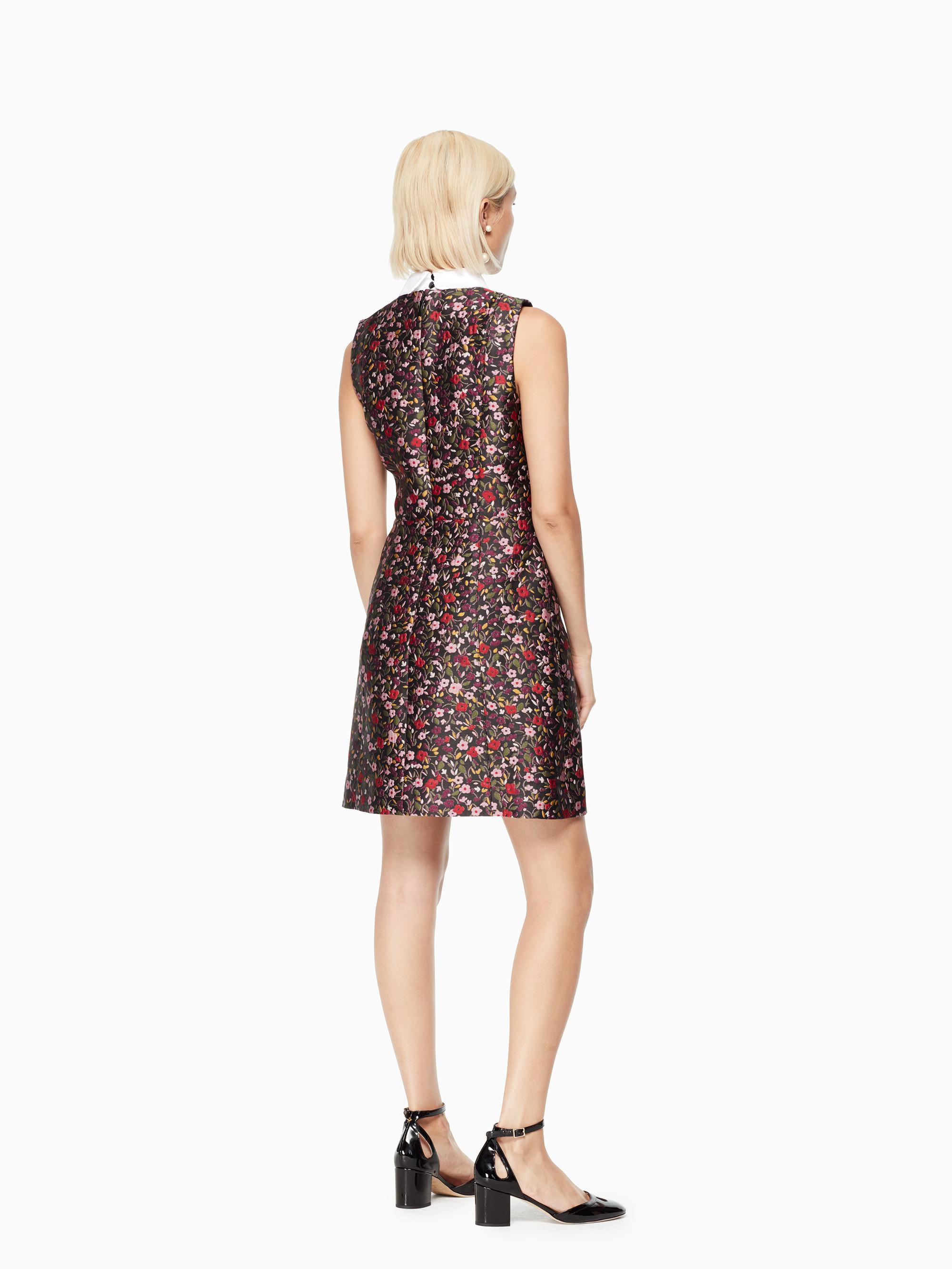 af06bc78303 Lyst - Kate Spade Boho Floral Jacquard Dress in Black