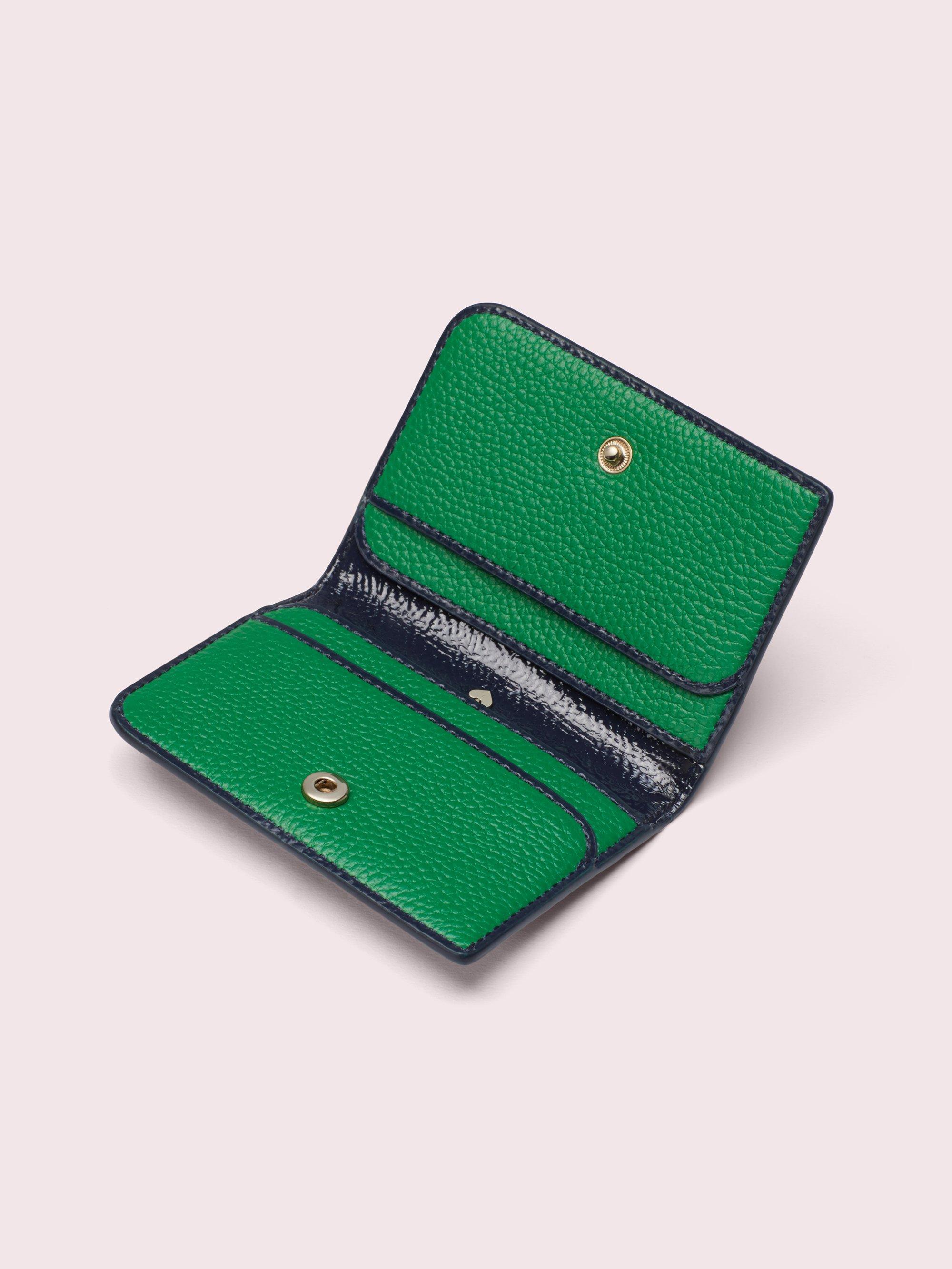 kate spade card holder green  Sam Bifold Cardholder