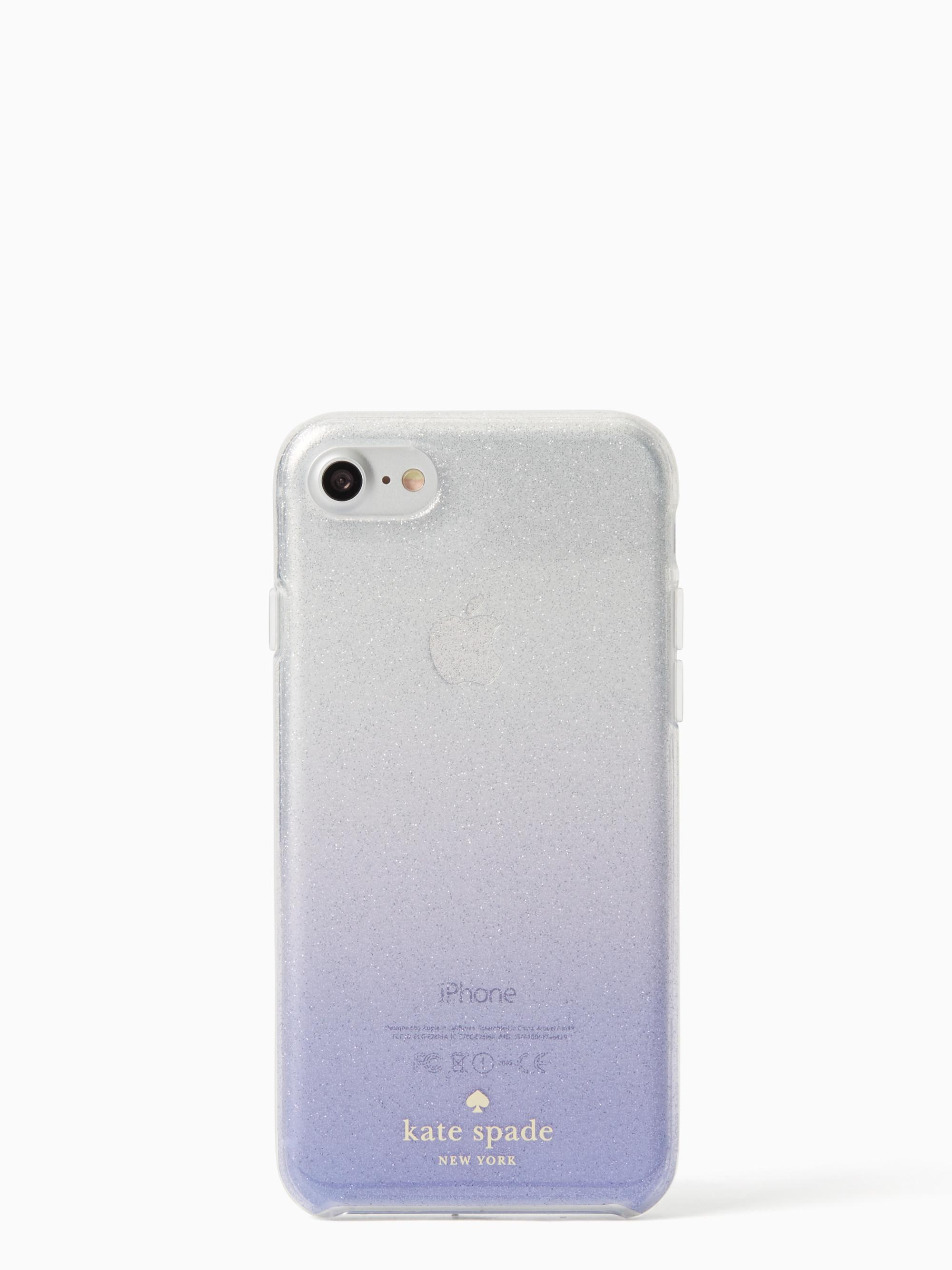 the latest 9709a 6c9f0 kate spade new york Blue Clear Glitter Ombre Iphone 7 Case