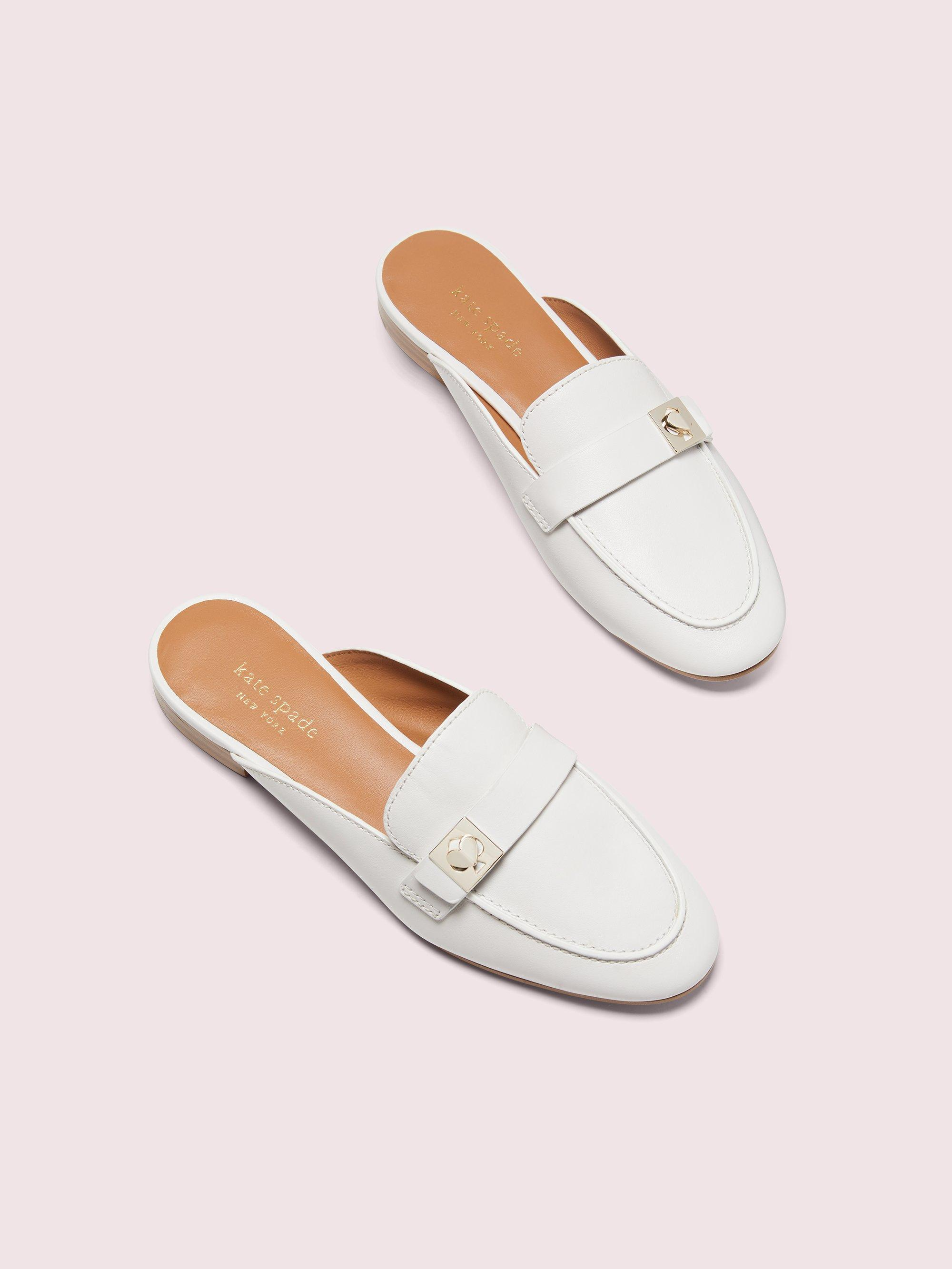 Kate Spade Leather Catroux Loafer Mule