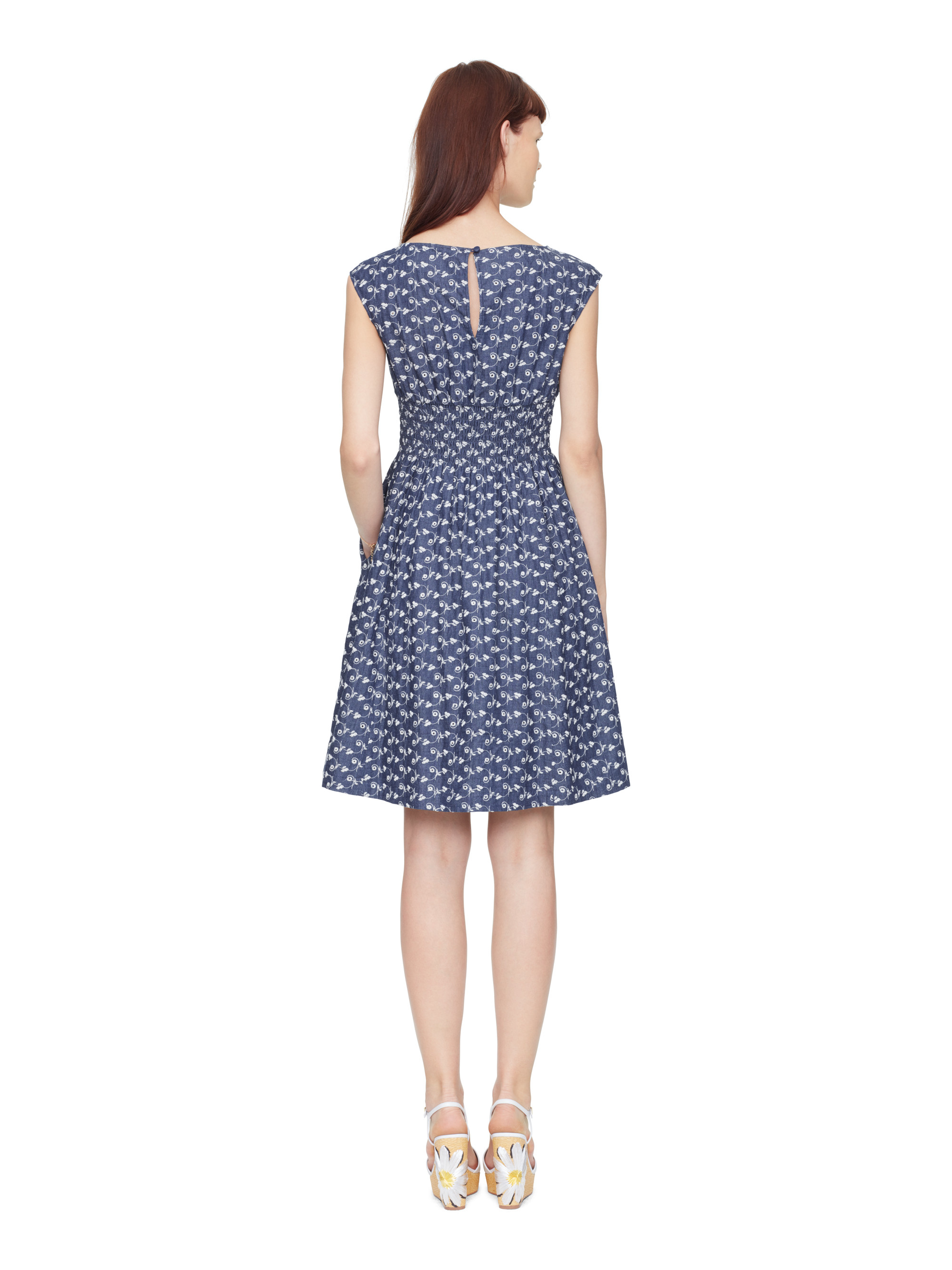 Lyst Kate Spade New York Chambray Blaire Dress In Blue