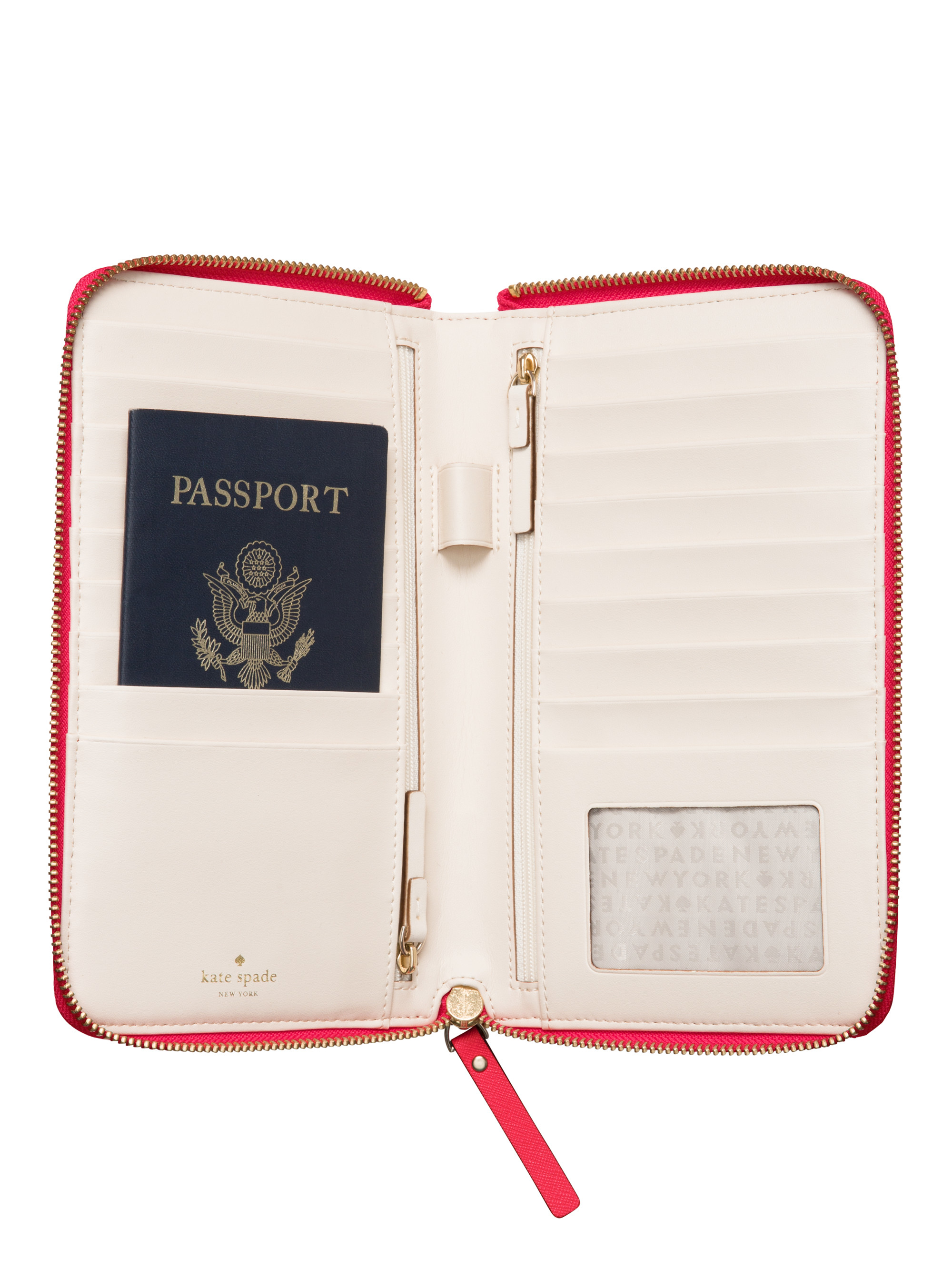 Lyst Kate Spade New York Mikas Pond Travel Wallet In Red