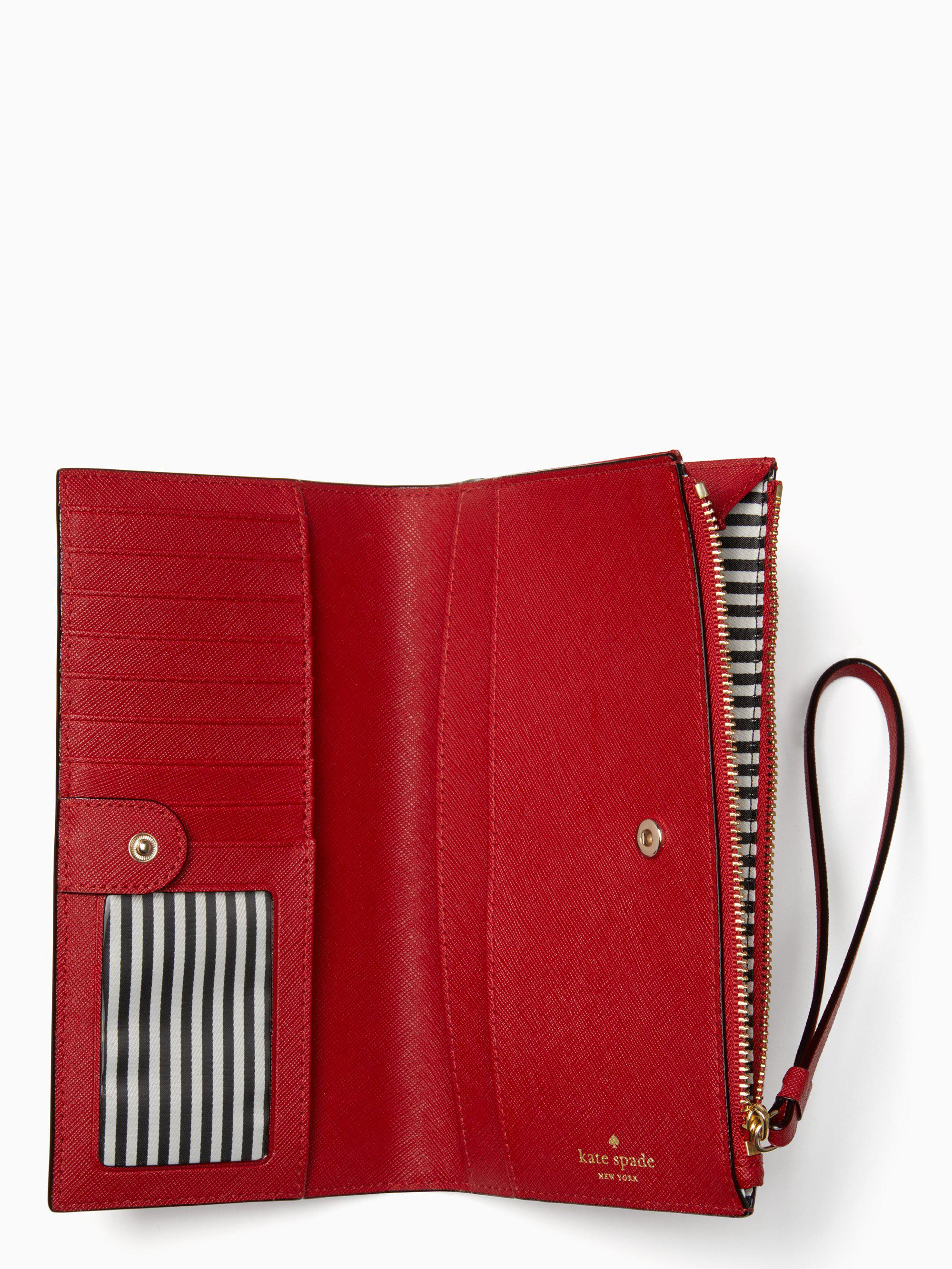 Kate Spade Leather Cameron Street Eliza in Anthracite (Red) - Lyst